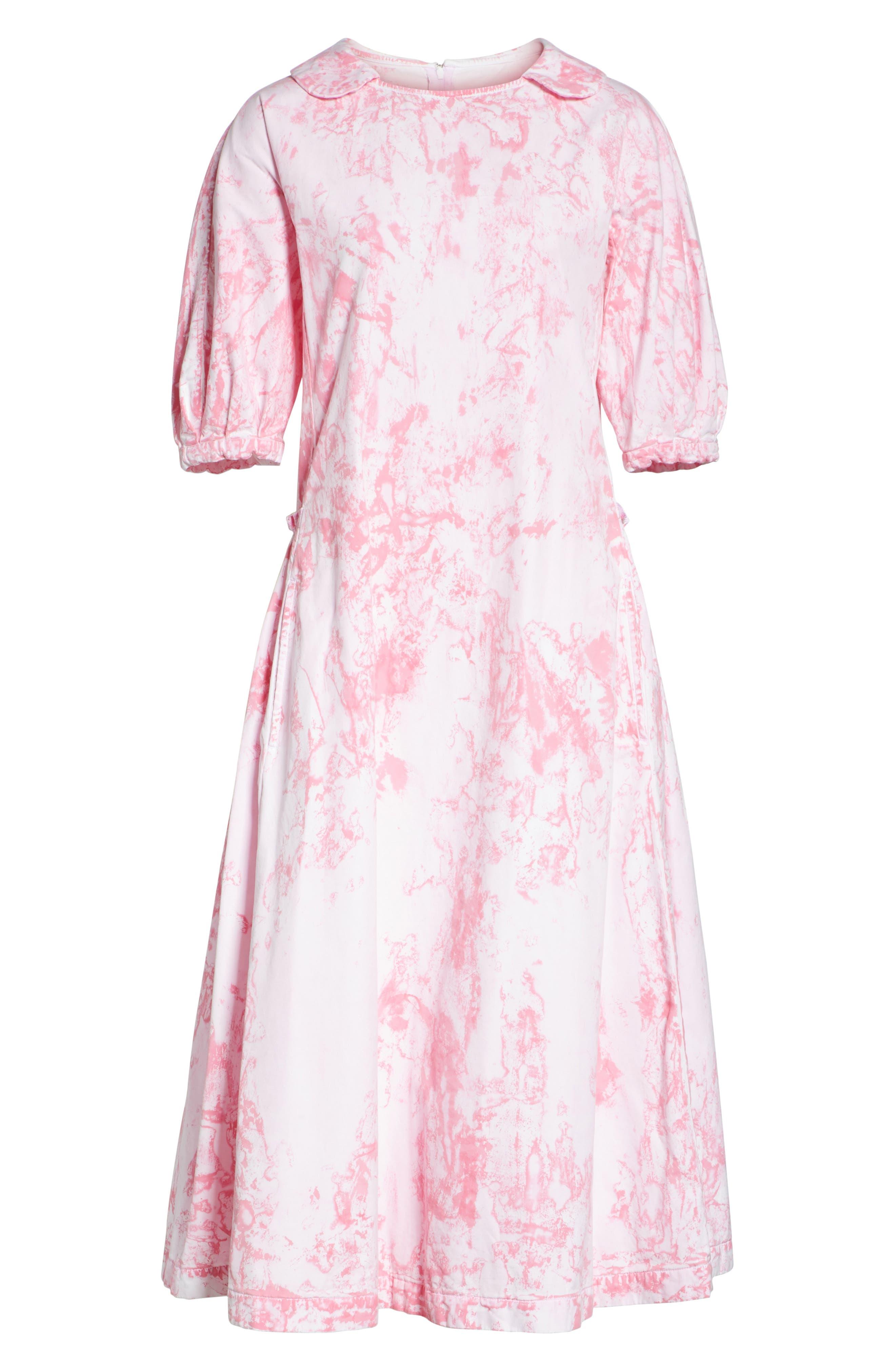 Tie Dye Midi Dress,                             Alternate thumbnail 7, color,                             Pink