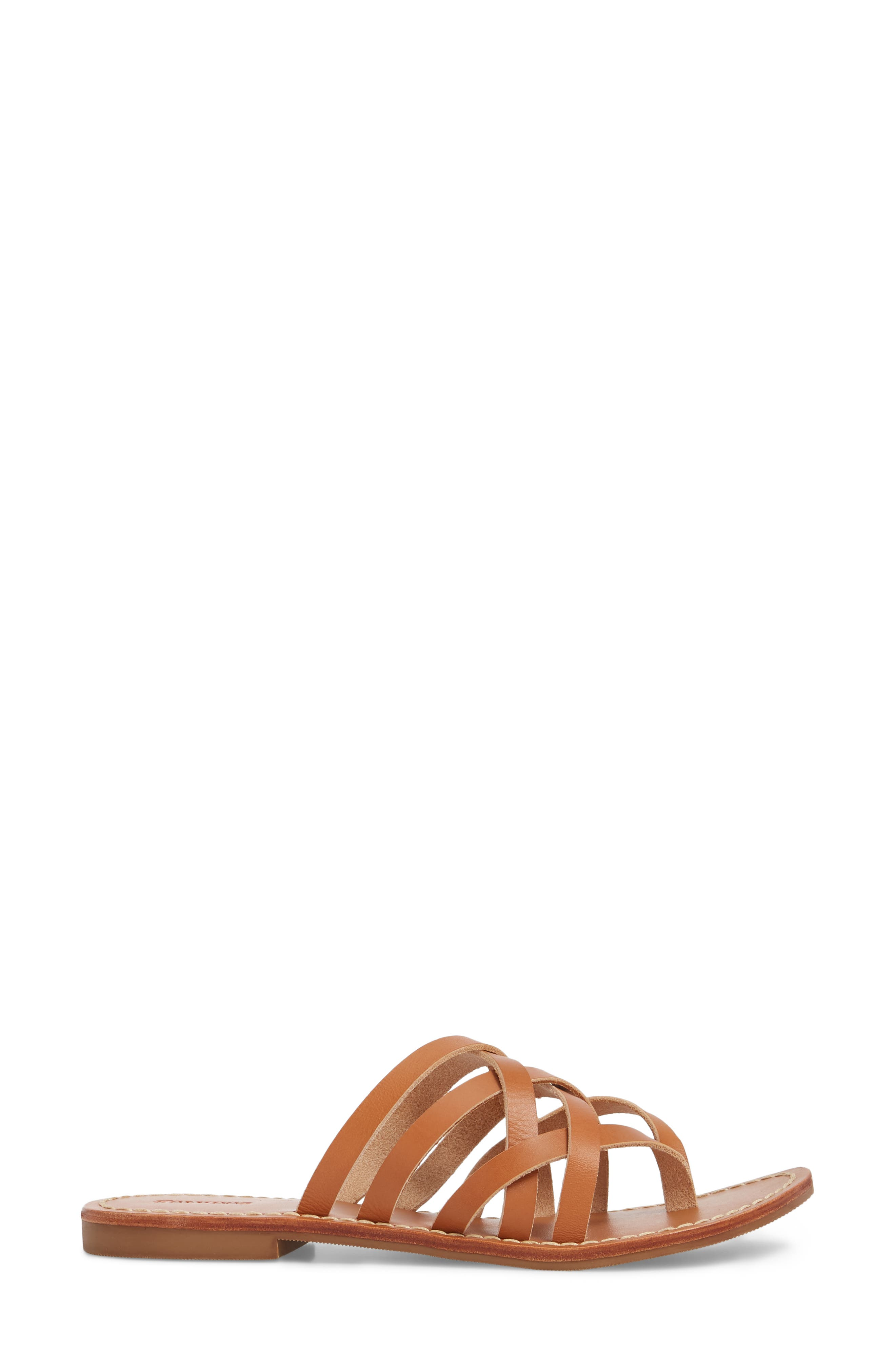 Strappy Sandal,                             Alternate thumbnail 3, color,                             Natural Leather