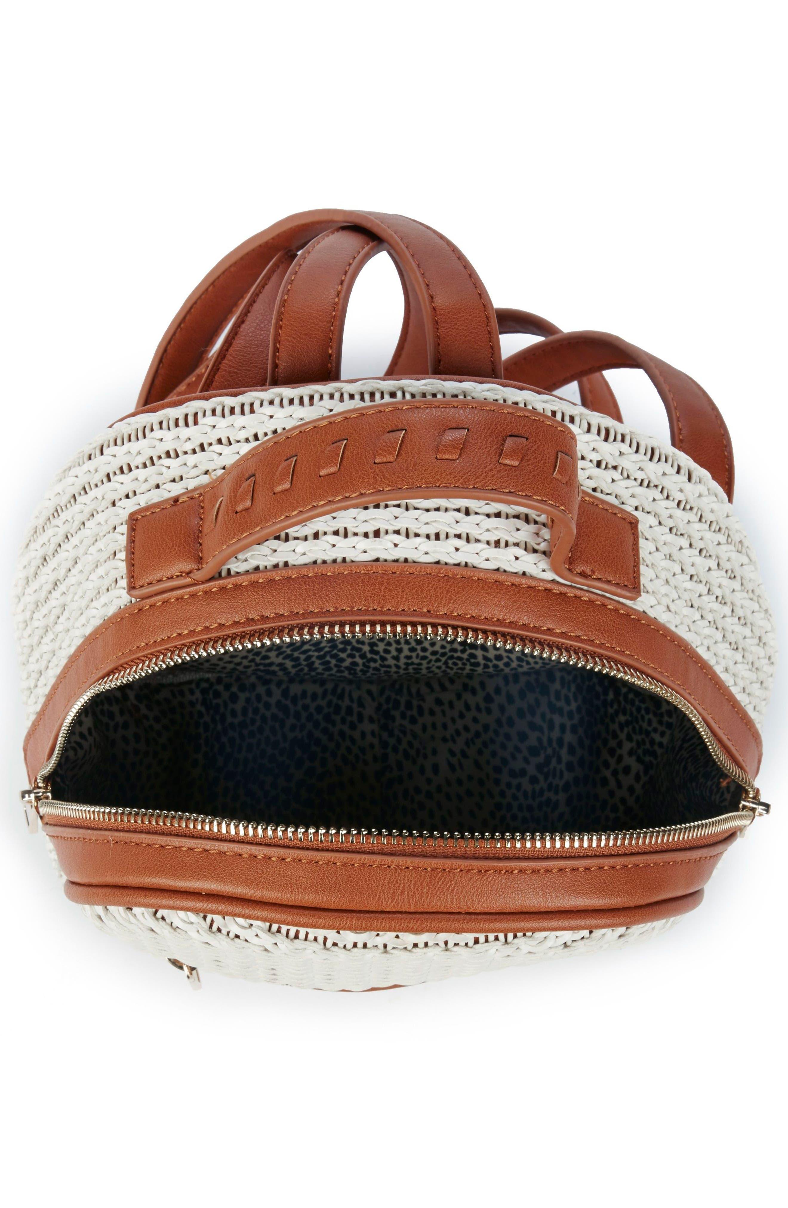 Nikole Faux Leather Backpack,                             Alternate thumbnail 3, color,                             Camel