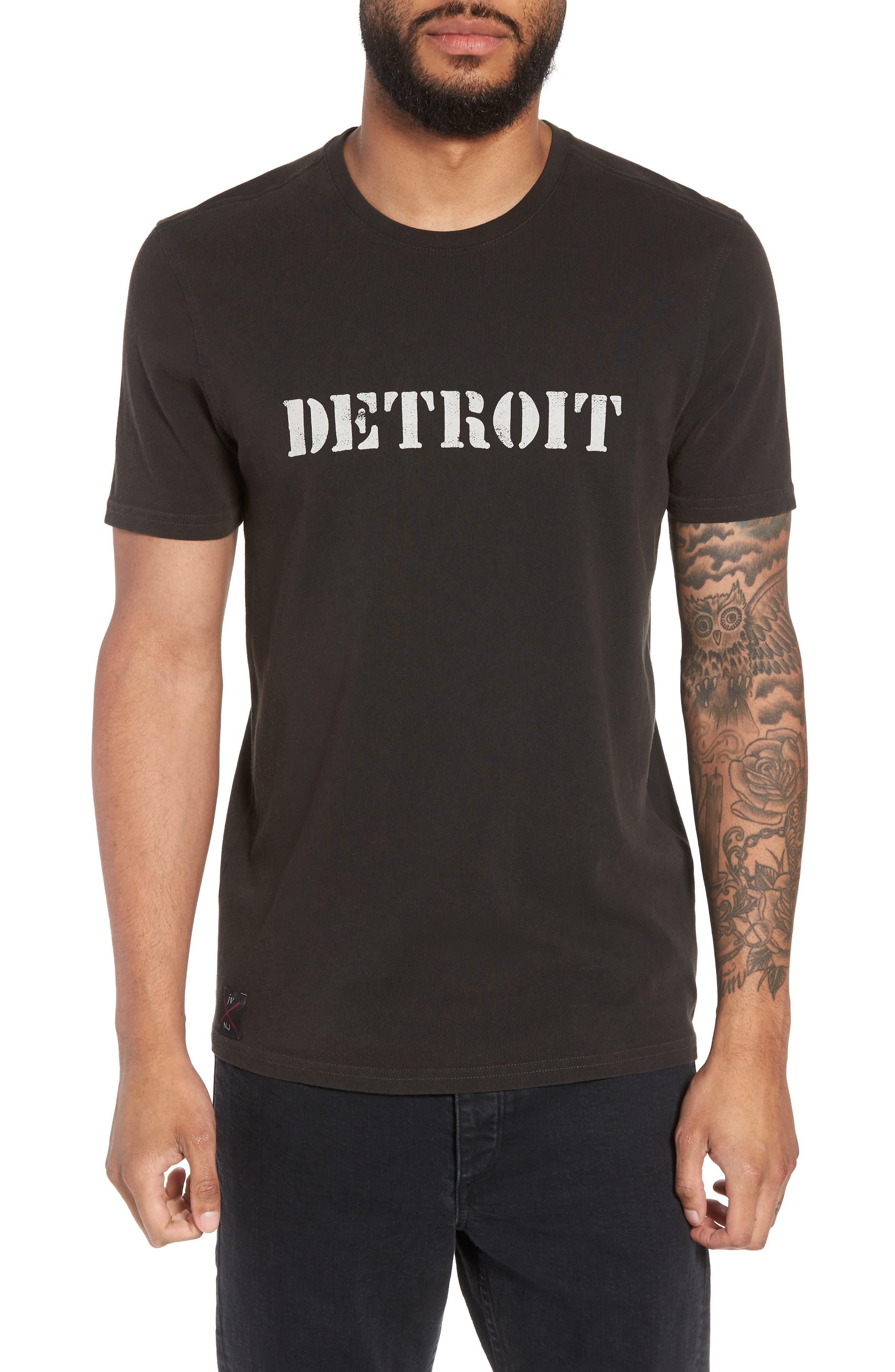 John Varvatos x Nick Jonas Rock City Graphic T-Shirt,                             Main thumbnail 1, color,                             Black