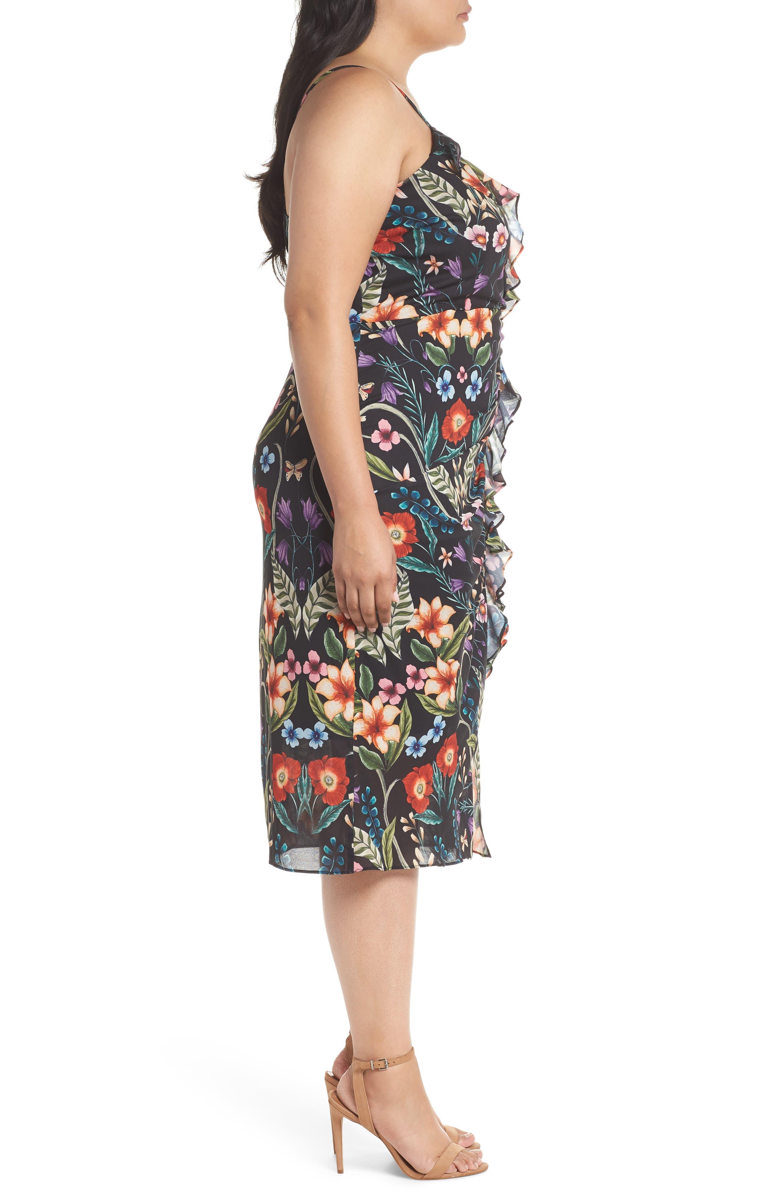 Alternate Image 3  - Cooper St Gardenia Ruffle Slipdress (Plus Size)