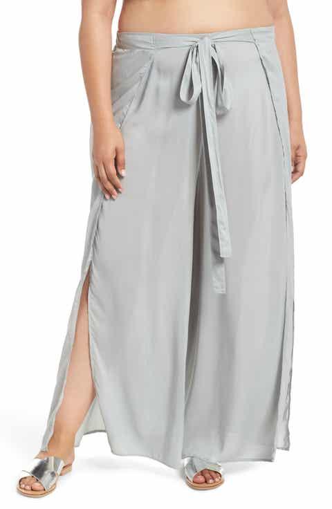 Elan Cover-Up Flyaway Pants (Plus Size)