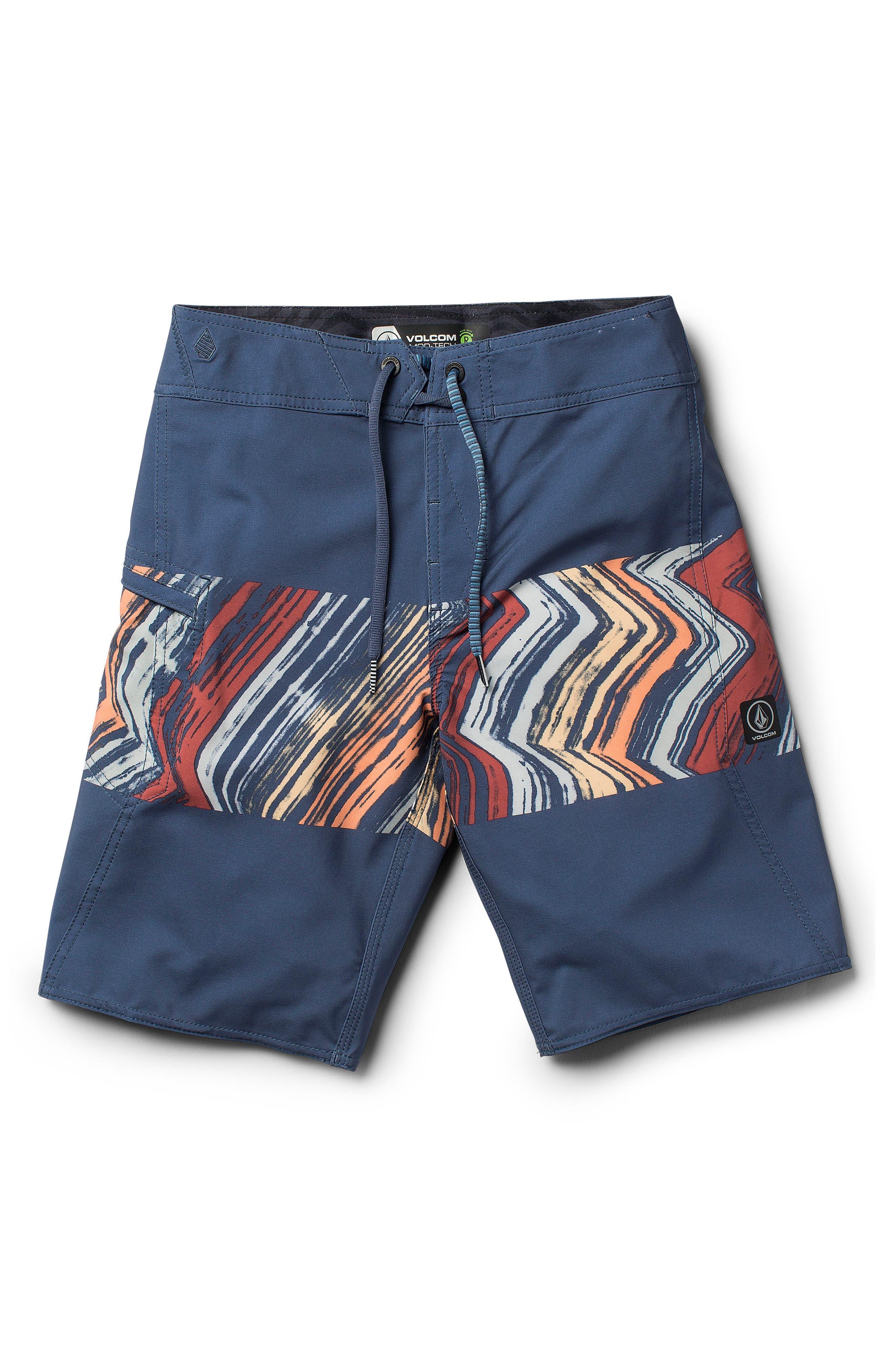 Macaw Board Shorts,                             Main thumbnail 1, color,                             Sunburst