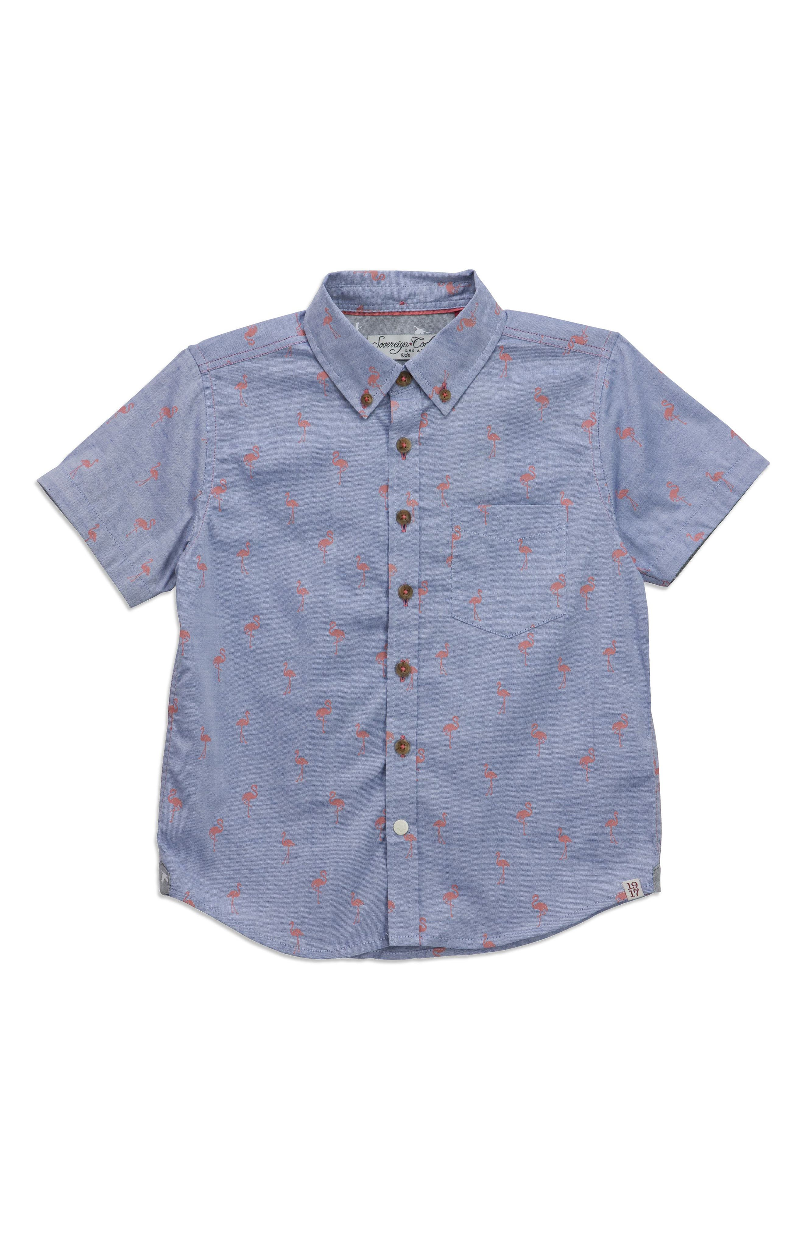 Alternate Image 1 Selected - Sovereign Code Crystal Cove Woven Shirt (Toddler Boys)