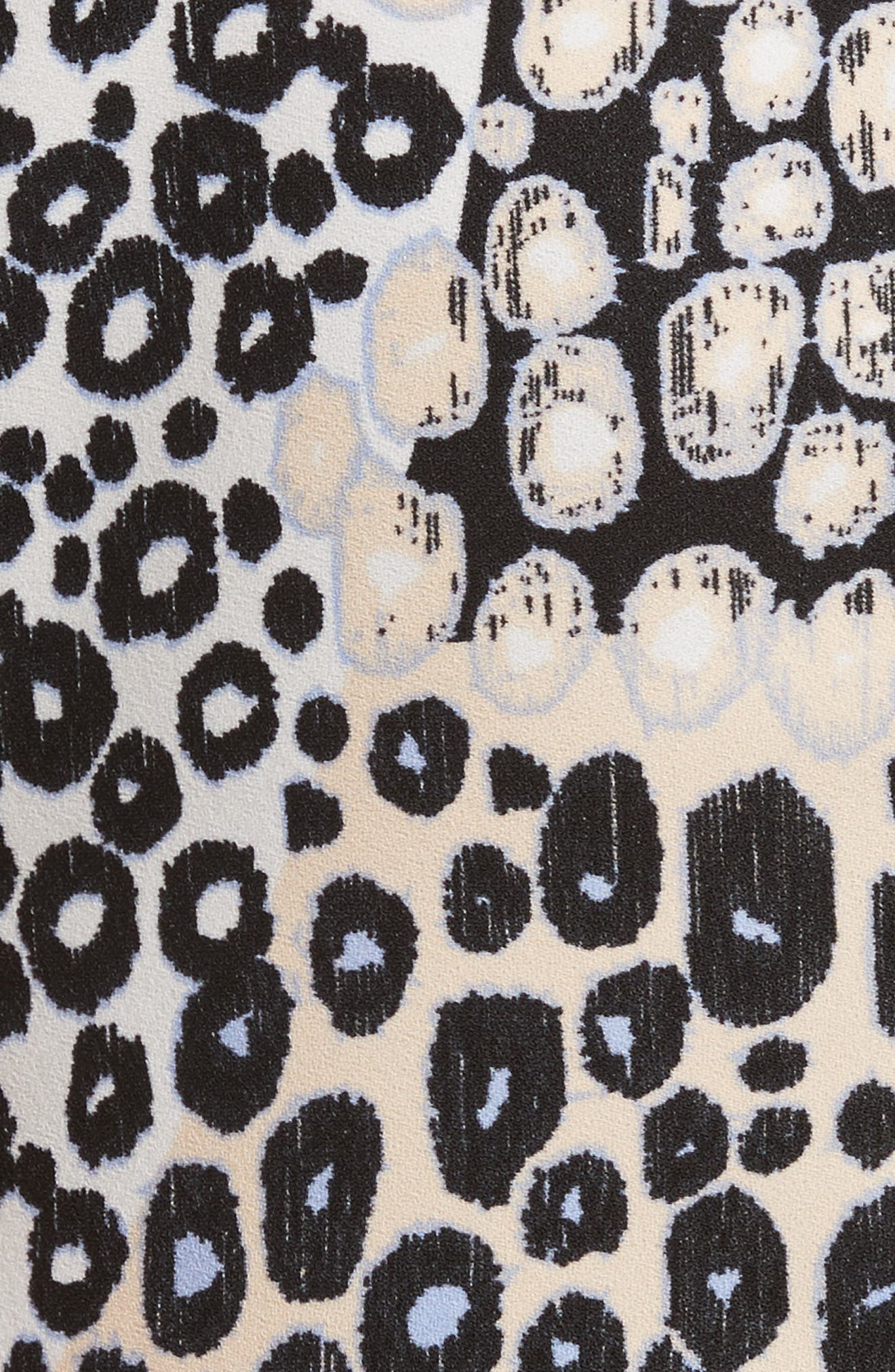 Ruffled Print Top,                             Alternate thumbnail 5, color,                             Sandstone