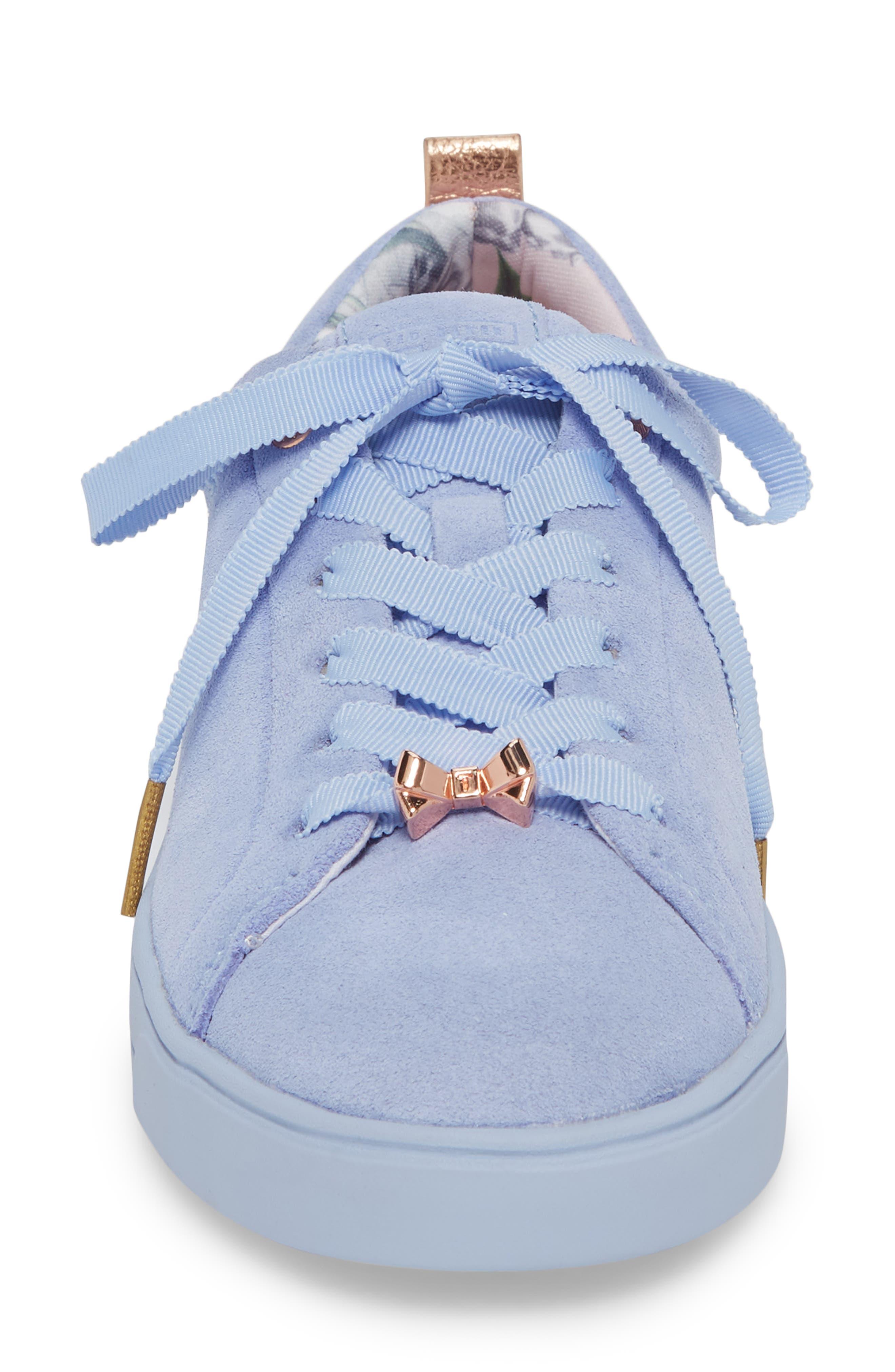 Kelleis Sneaker,                             Alternate thumbnail 4, color,                             Light Blue Suede