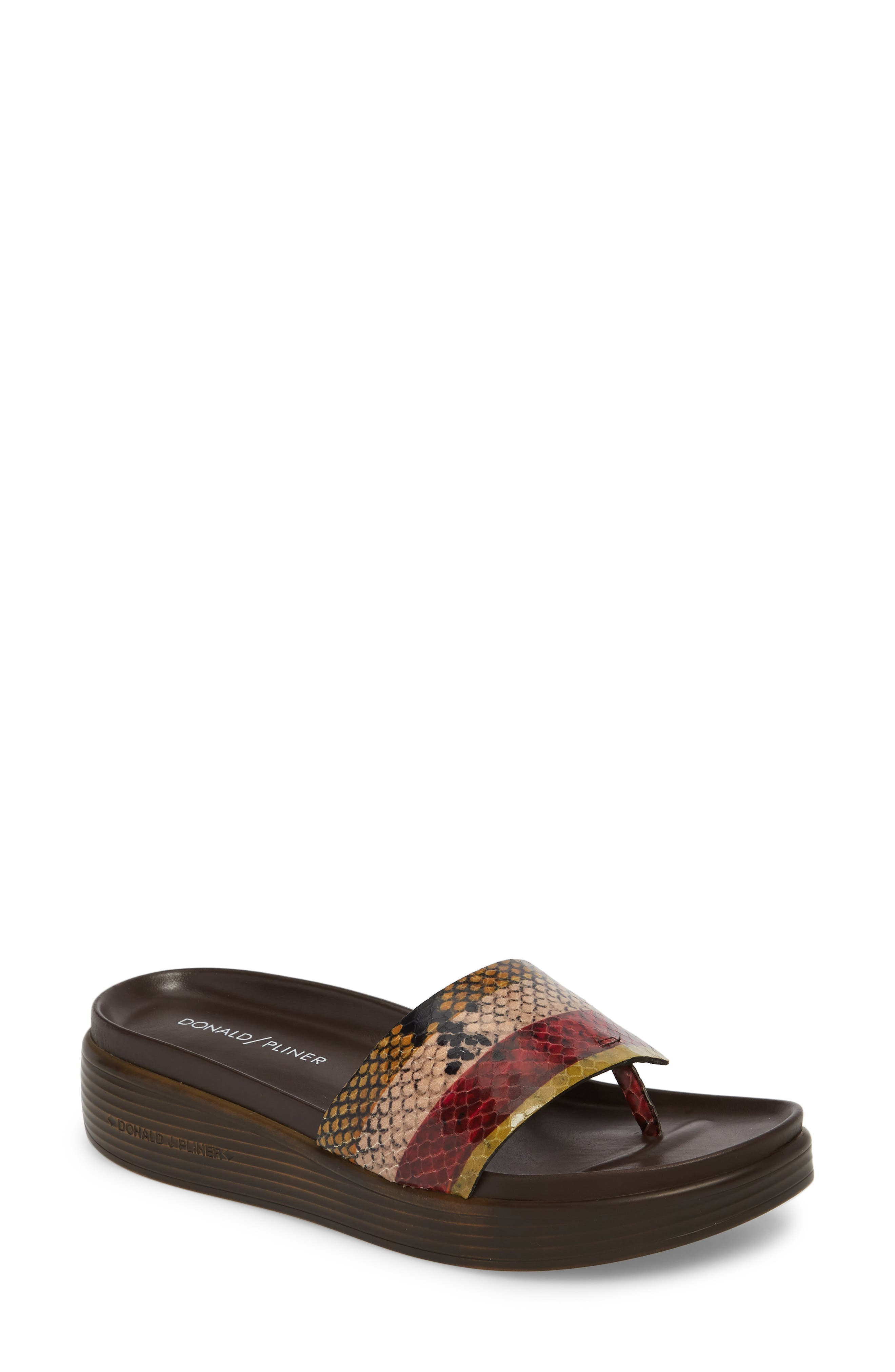 Fifi Slide Sandal,                         Main,                         color, Fawn Leather