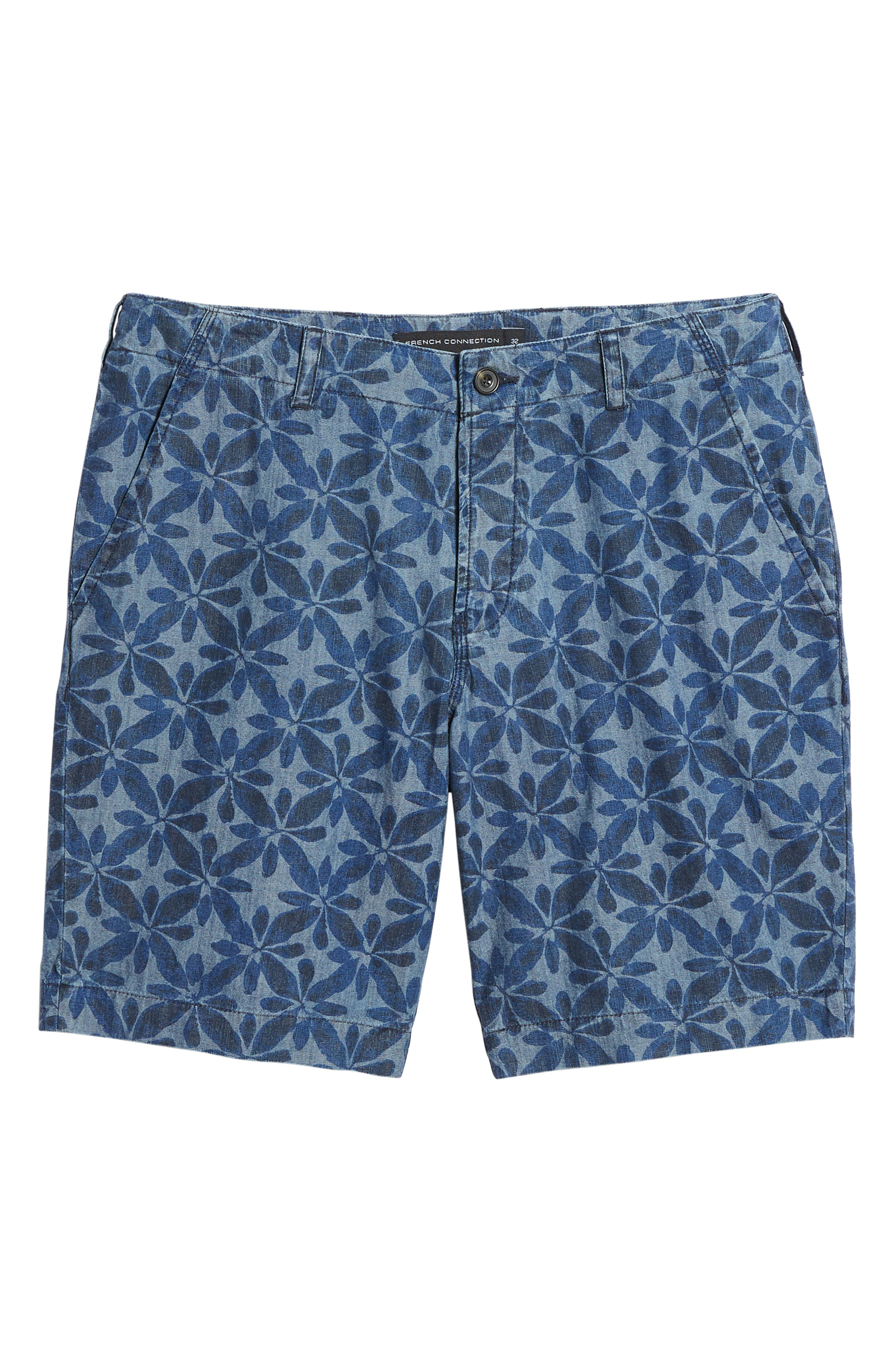 Franju Floral Cotton Shorts,                             Alternate thumbnail 6, color,                             Rinse And Softener