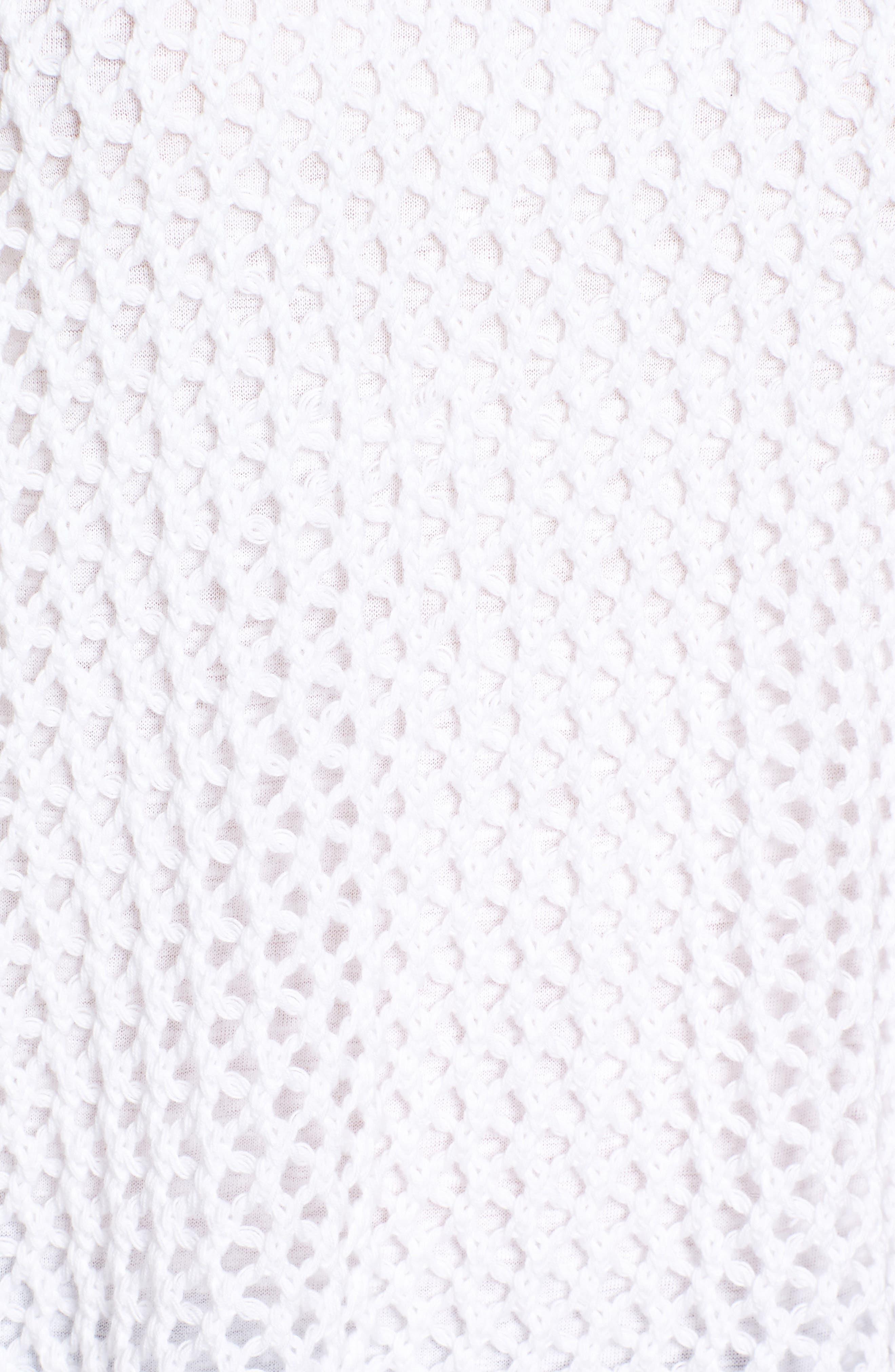 Organic Cotton Sweater,                             Alternate thumbnail 5, color,                             White