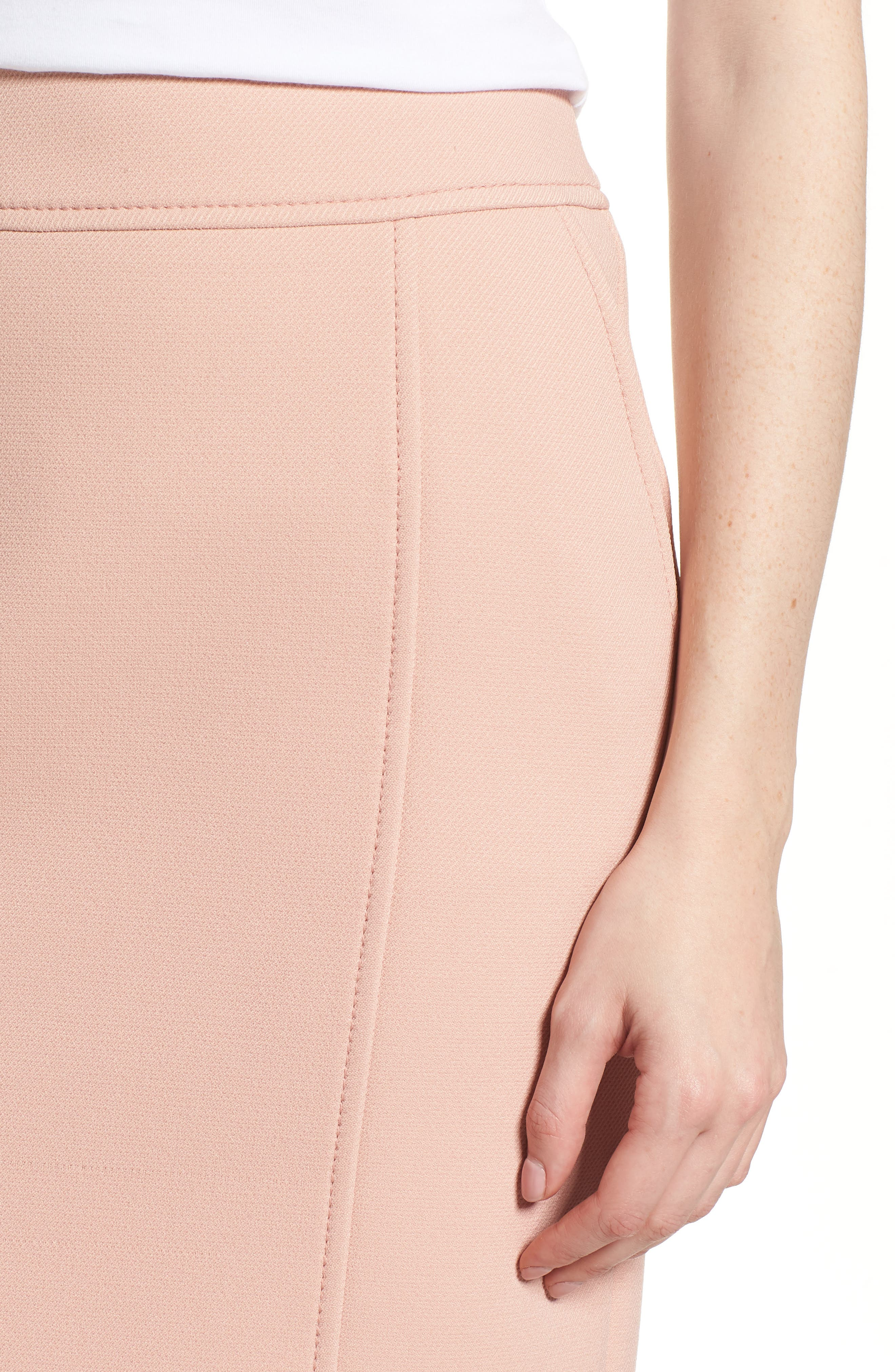 Vuleama Compact Twill Pencil Skirt,                             Alternate thumbnail 4, color,                             Blush