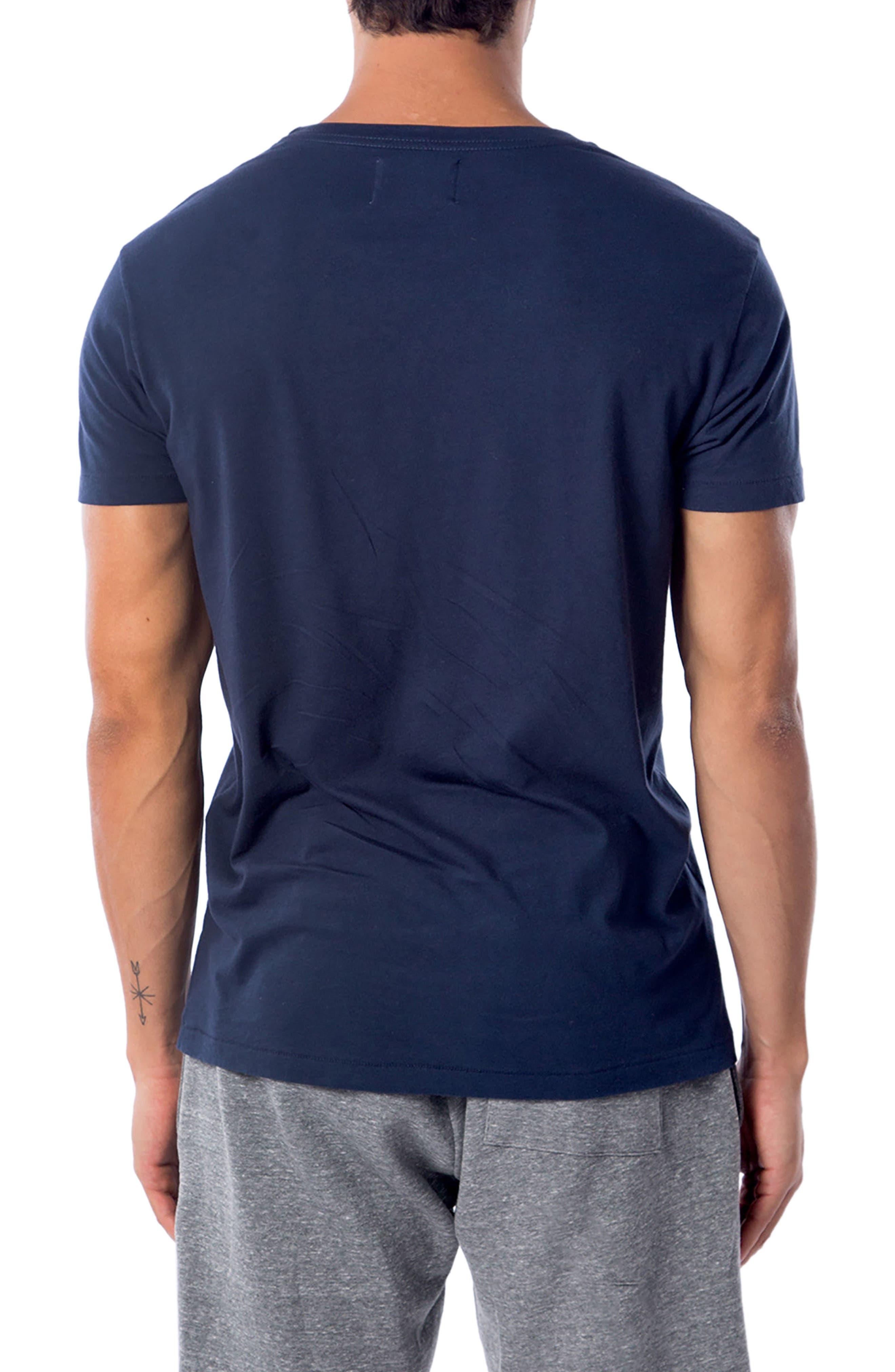 American Waves T-Shirt,                             Alternate thumbnail 2, color,                             Indigo