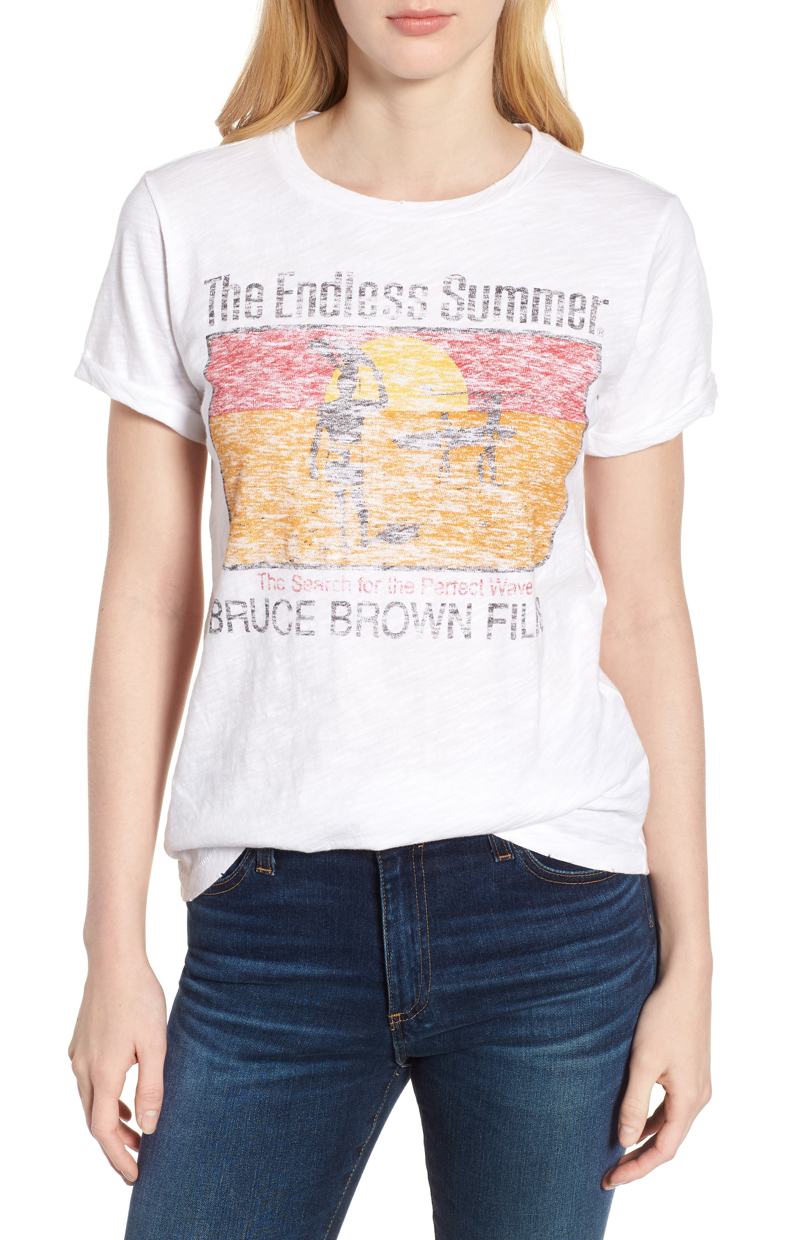 The Endless Summer Graphic Tee,                             Main thumbnail 1, color,                             Lucky White