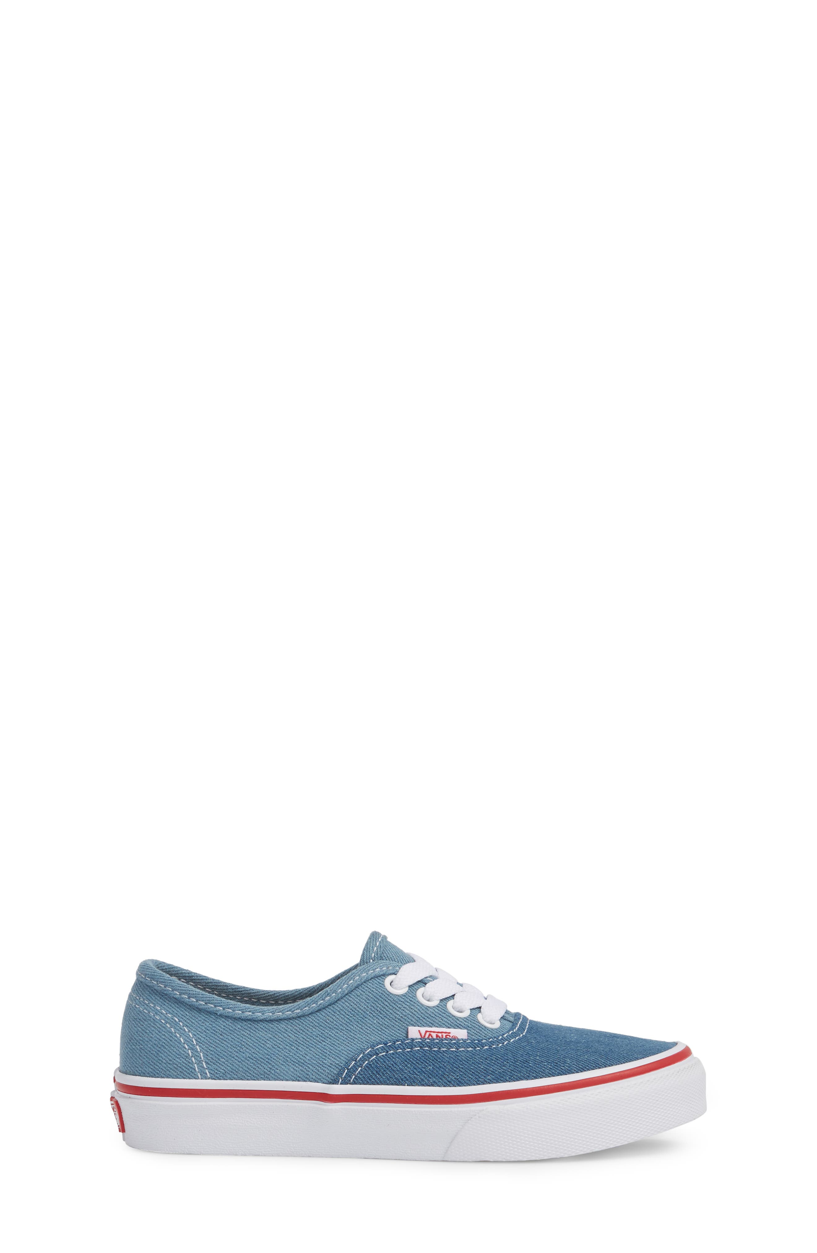 Authentic Sneaker,                             Alternate thumbnail 3, color,                             Blue/ White Denim Two-Tone