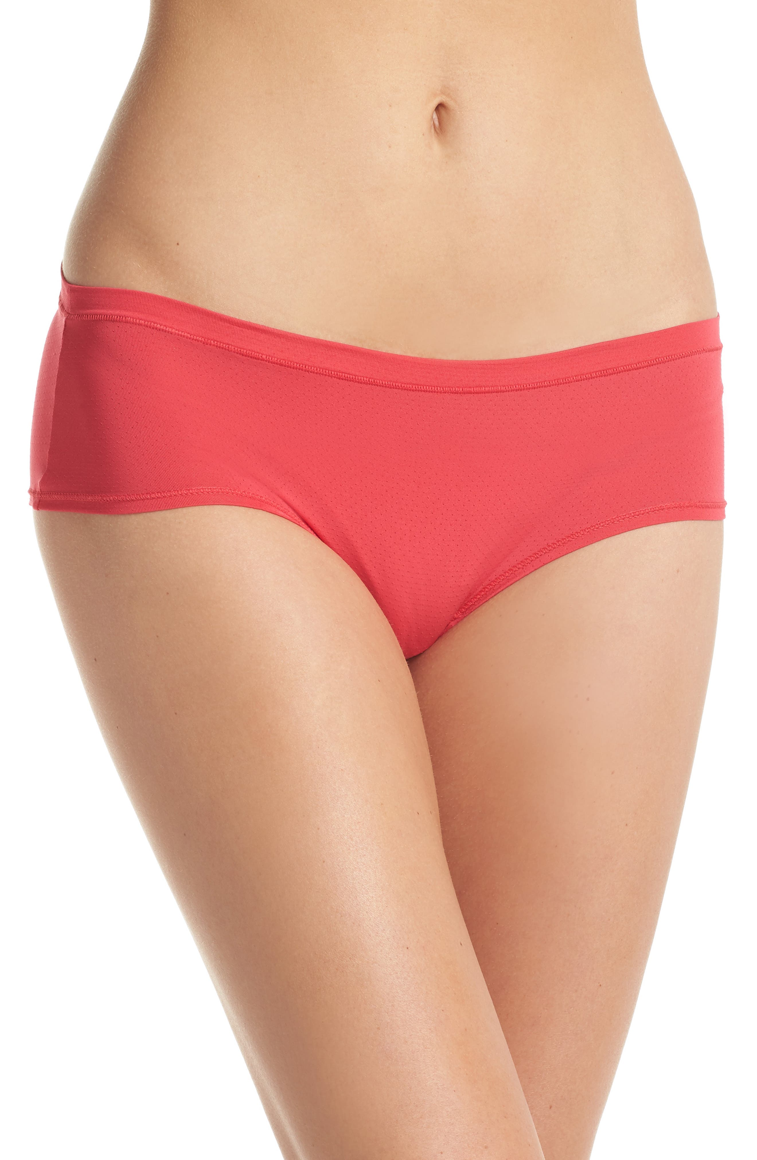 Active Mesh Hipster Briefs,                         Main,                         color, Red Hibiscus