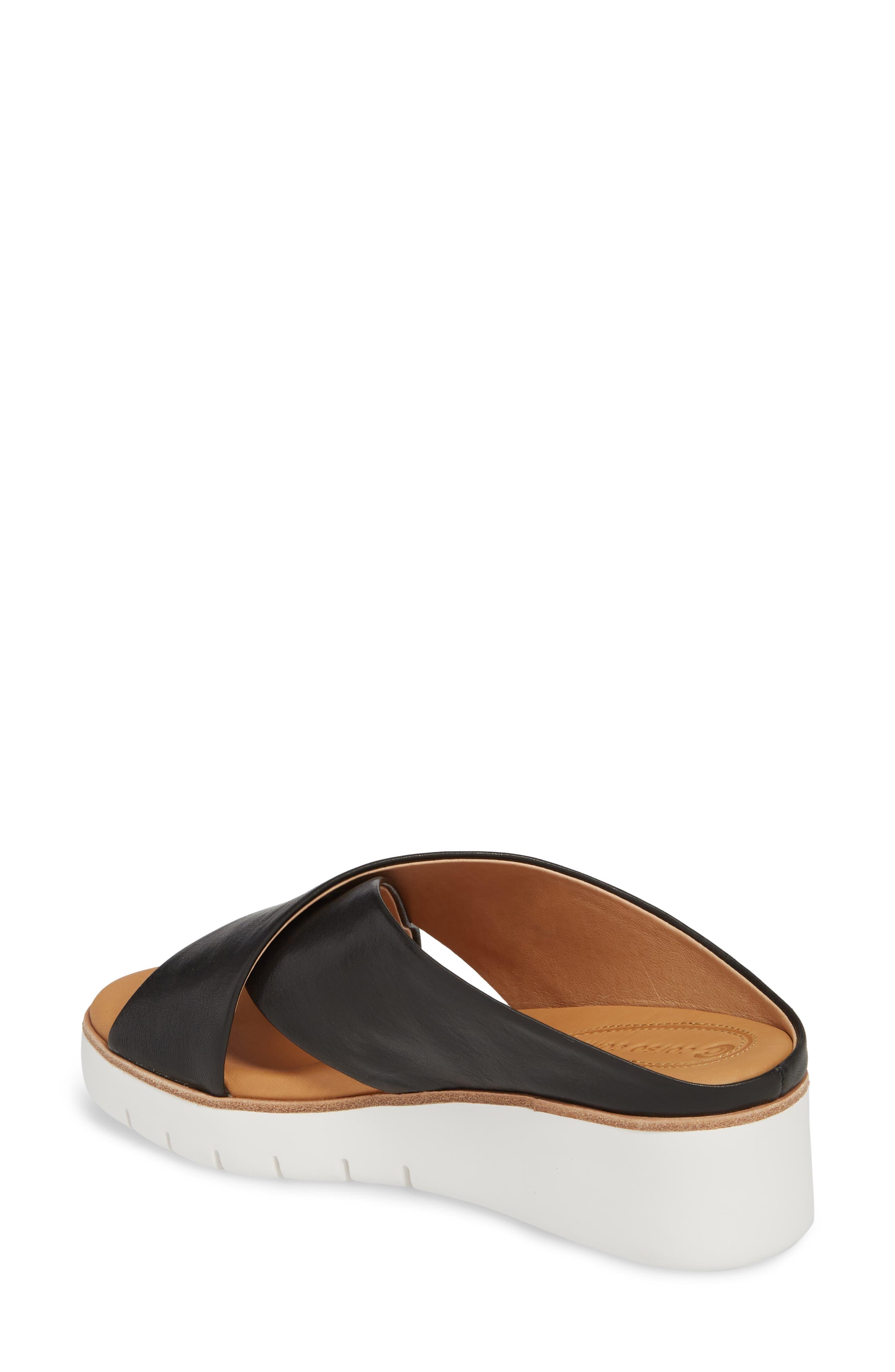 Brunna Sandal,                             Alternate thumbnail 2, color,                             Black Leather