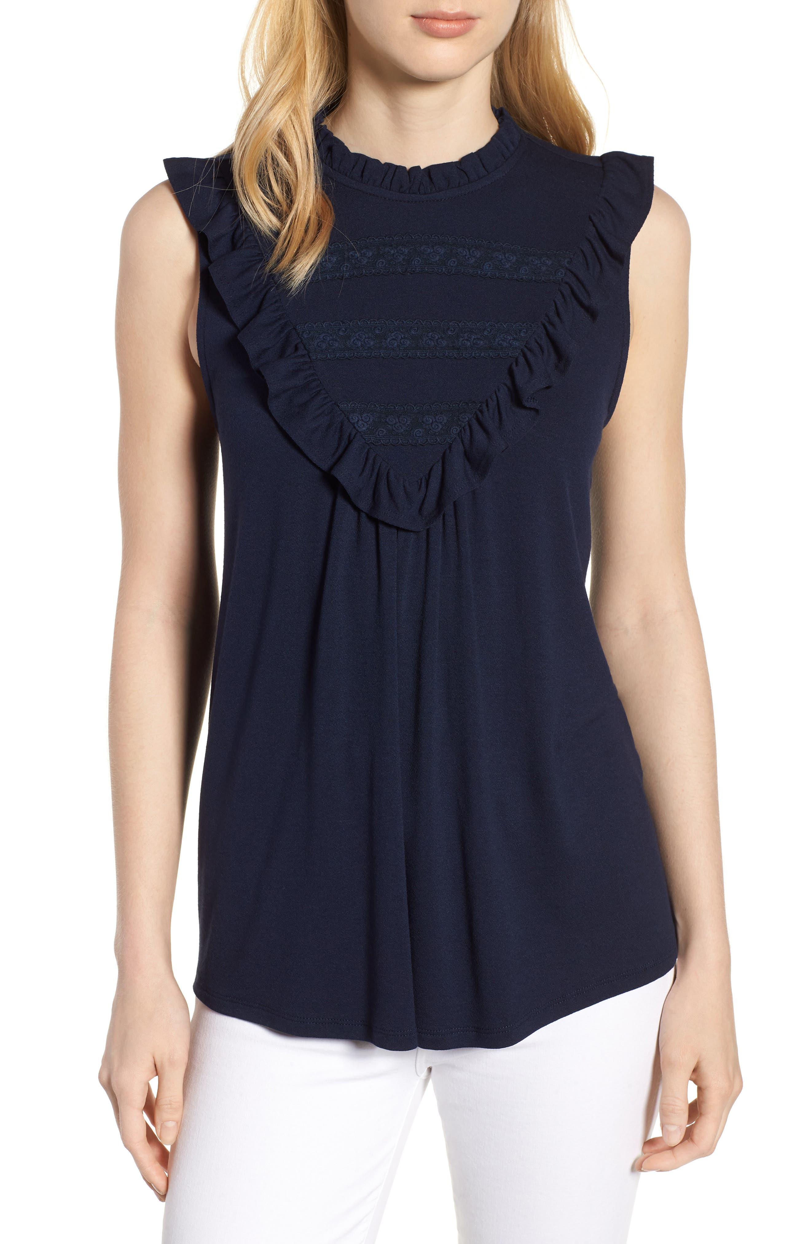 Everleigh Lace Inset Tank Top