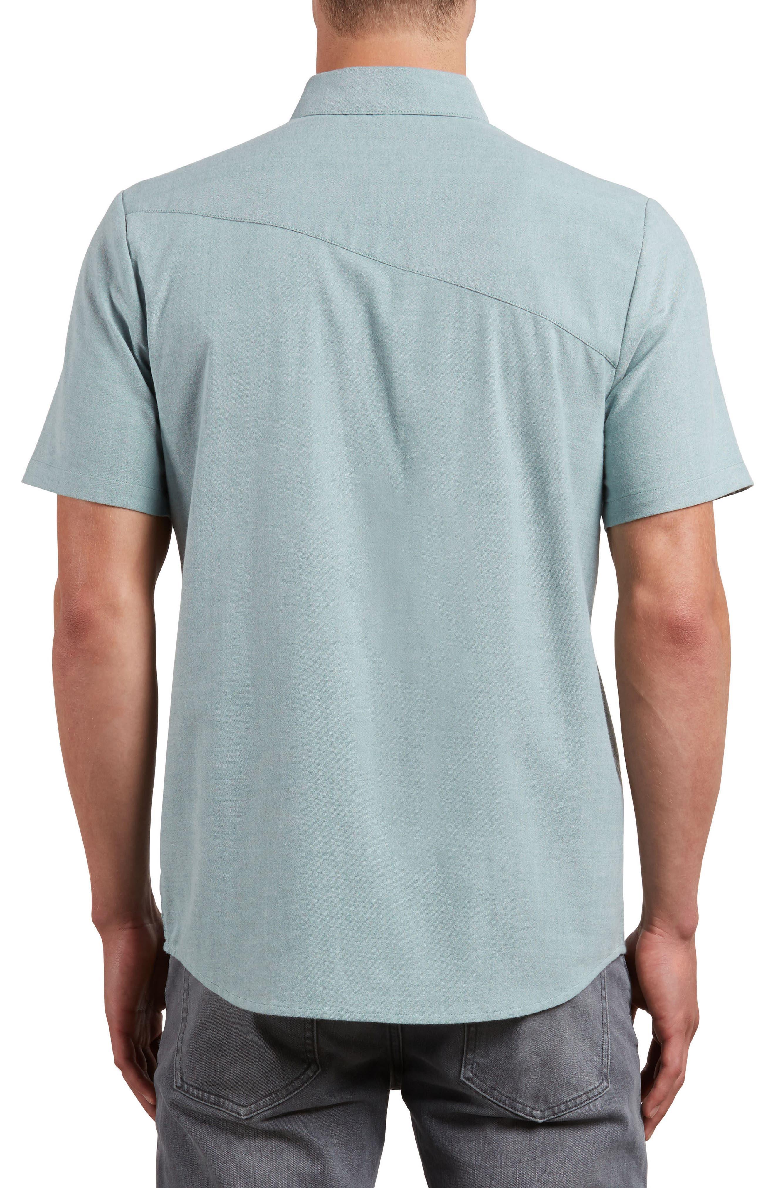 Everett Oxford Shirt,                             Alternate thumbnail 2, color,                             Ranger Green
