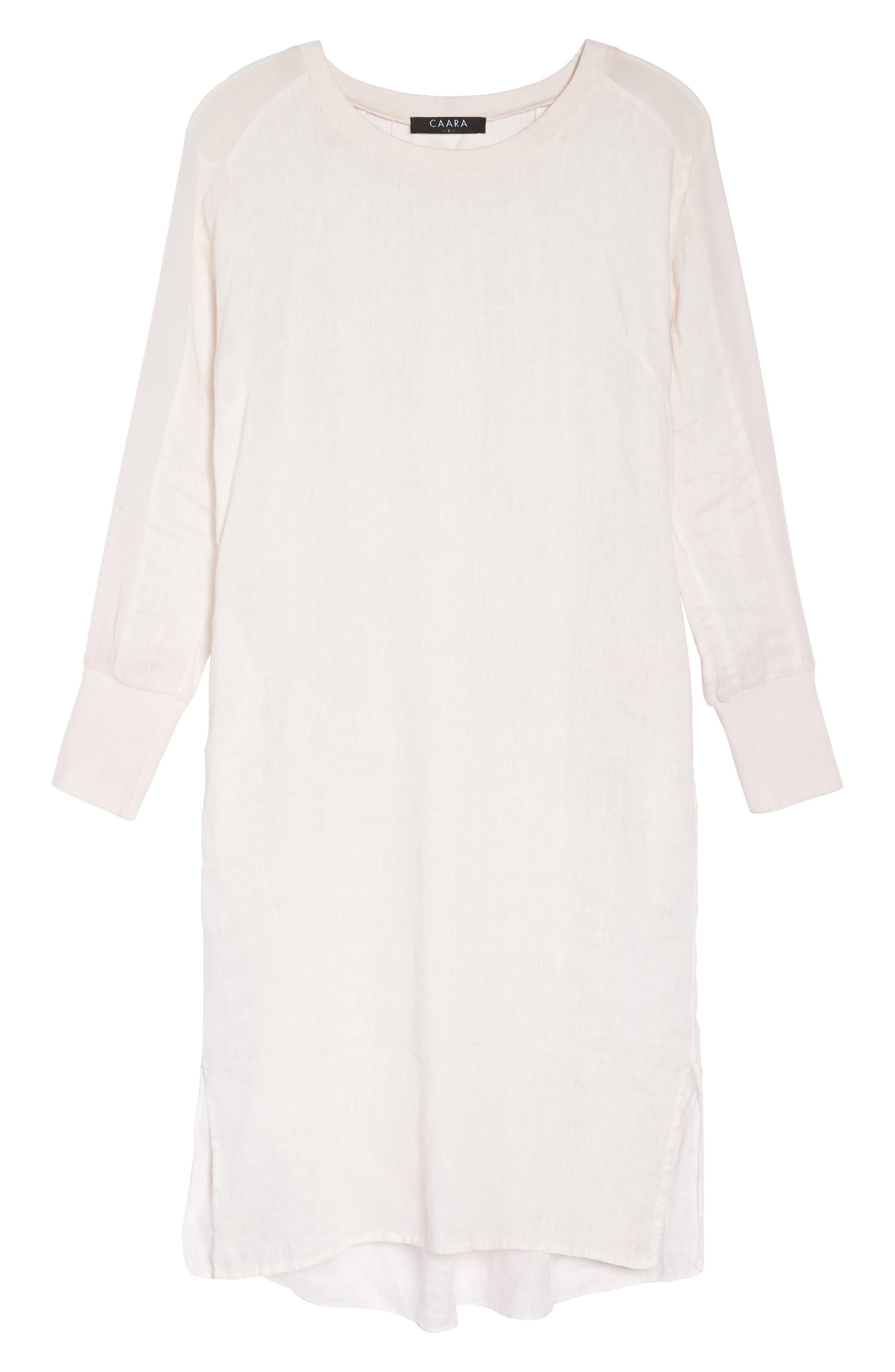Rata Linen Shift Dress,                             Alternate thumbnail 7, color,                             Light Pink