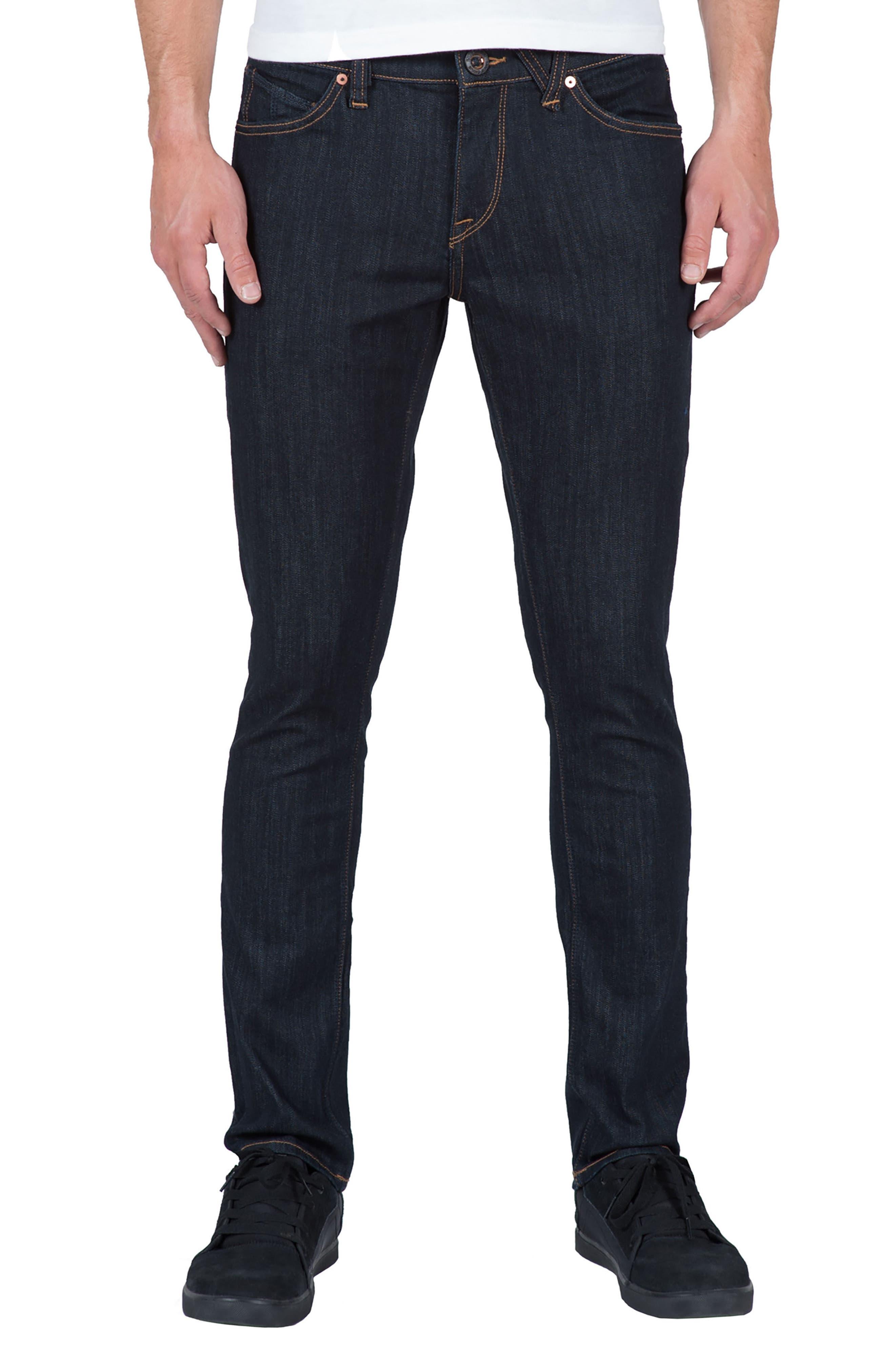 2x4 Slim Straight Leg Jeans,                             Main thumbnail 1, color,                             Blue Rinse