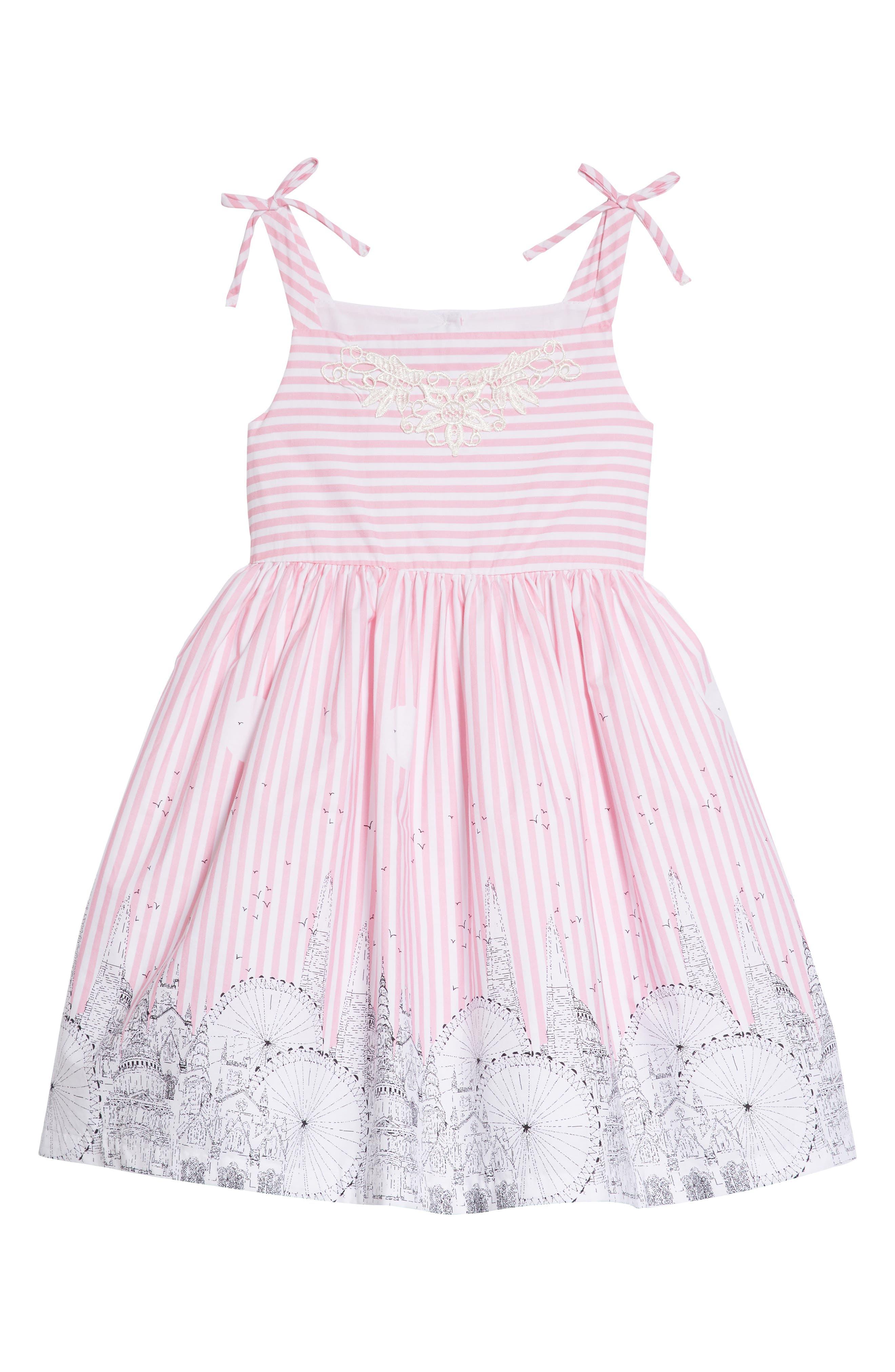Cityscape Dress,                             Main thumbnail 1, color,                             Pink/ White