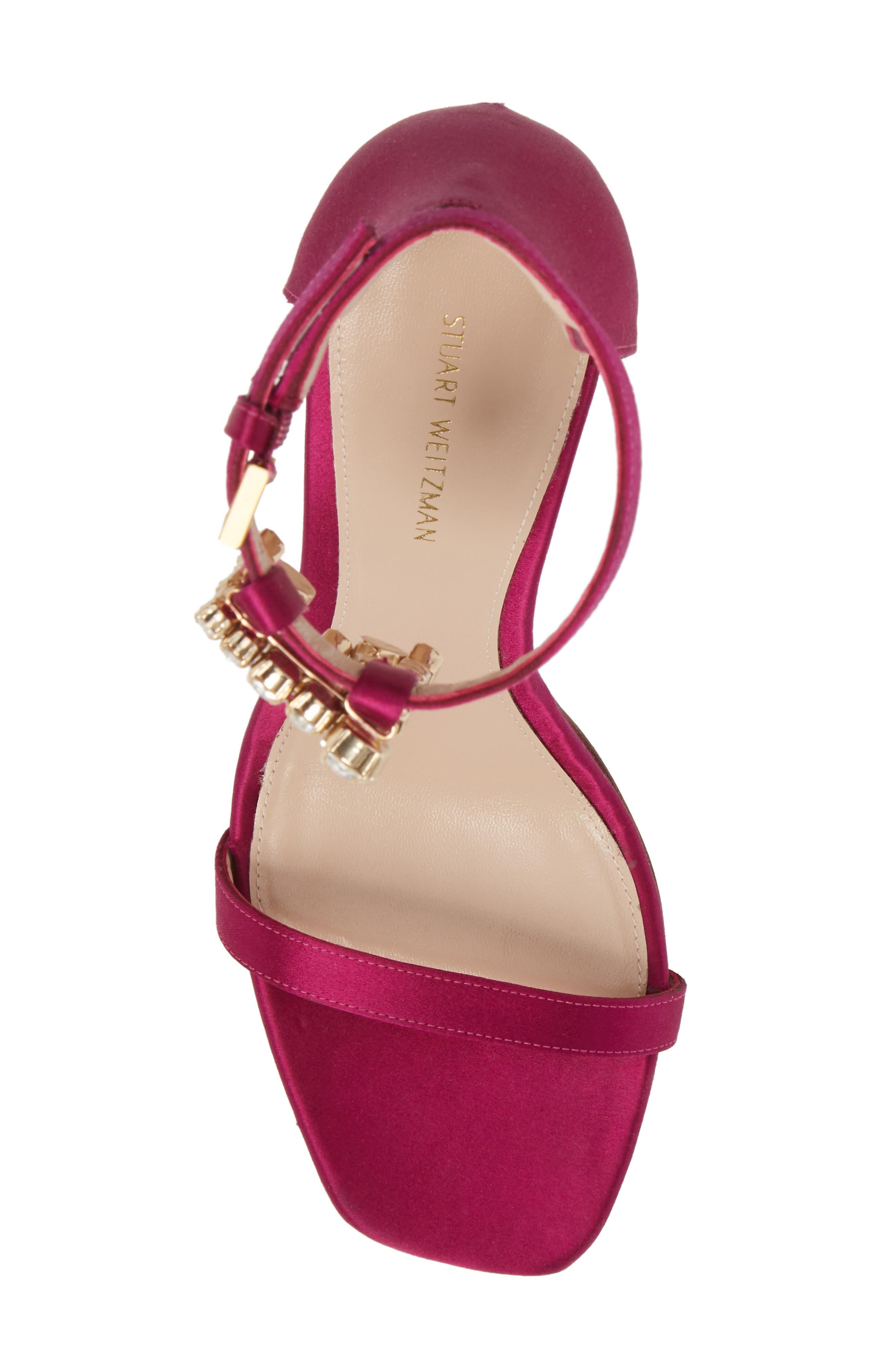 100FRINGESQUARENUDIST Sandal,                             Alternate thumbnail 5, color,                             Grape Silk Satin