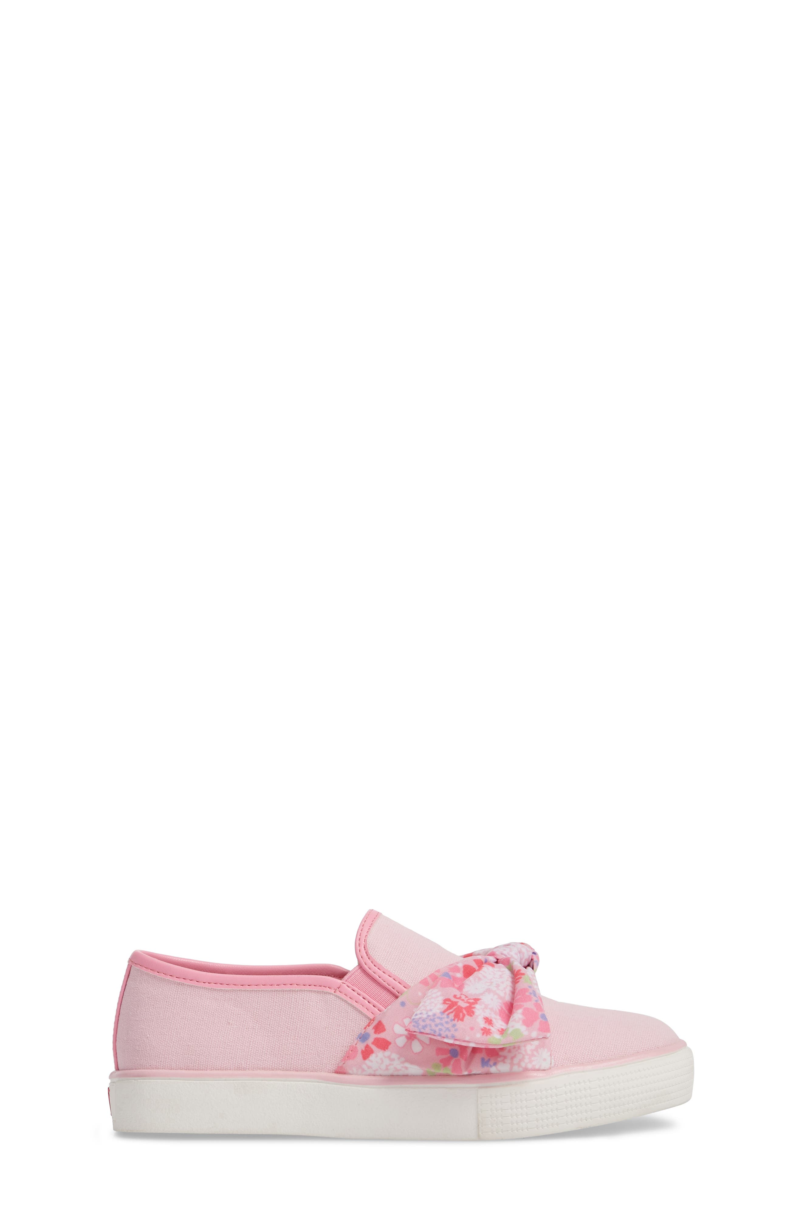 Ashlyn Bow Slip-On Sneaker,                             Alternate thumbnail 5, color,                             Orchid Pink