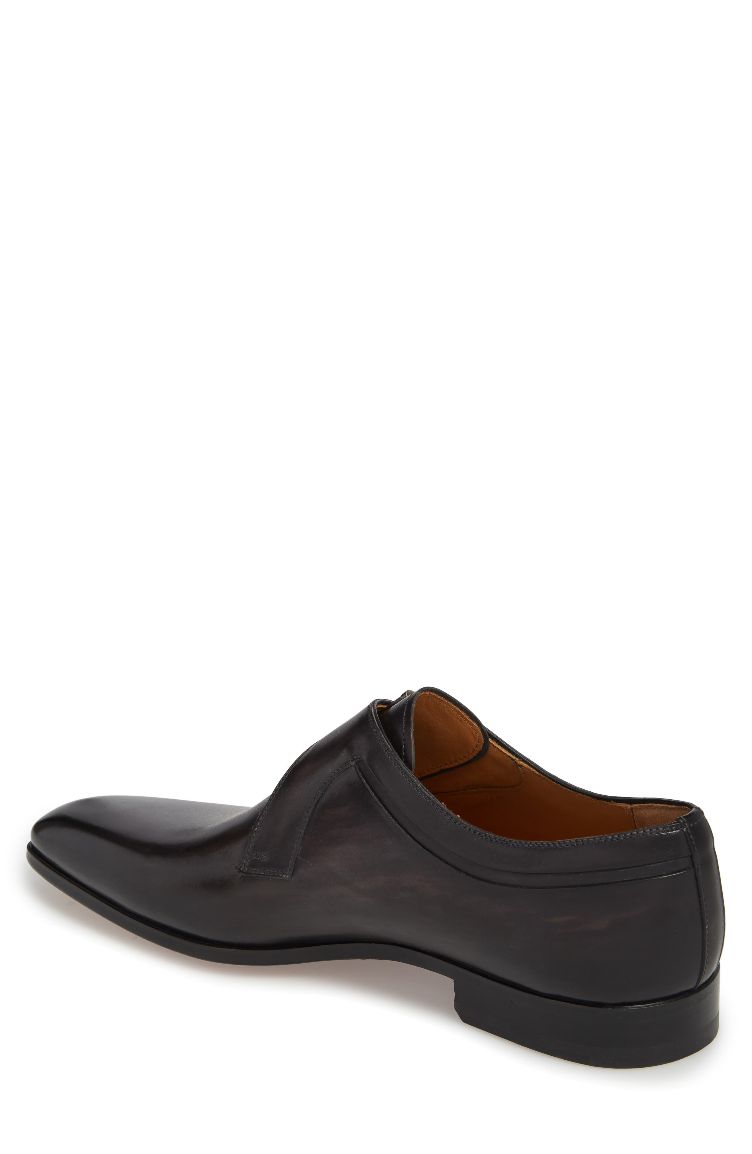 Toma Single Buckle Monk Shoe,                             Alternate thumbnail 2, color,                             Grey Leather