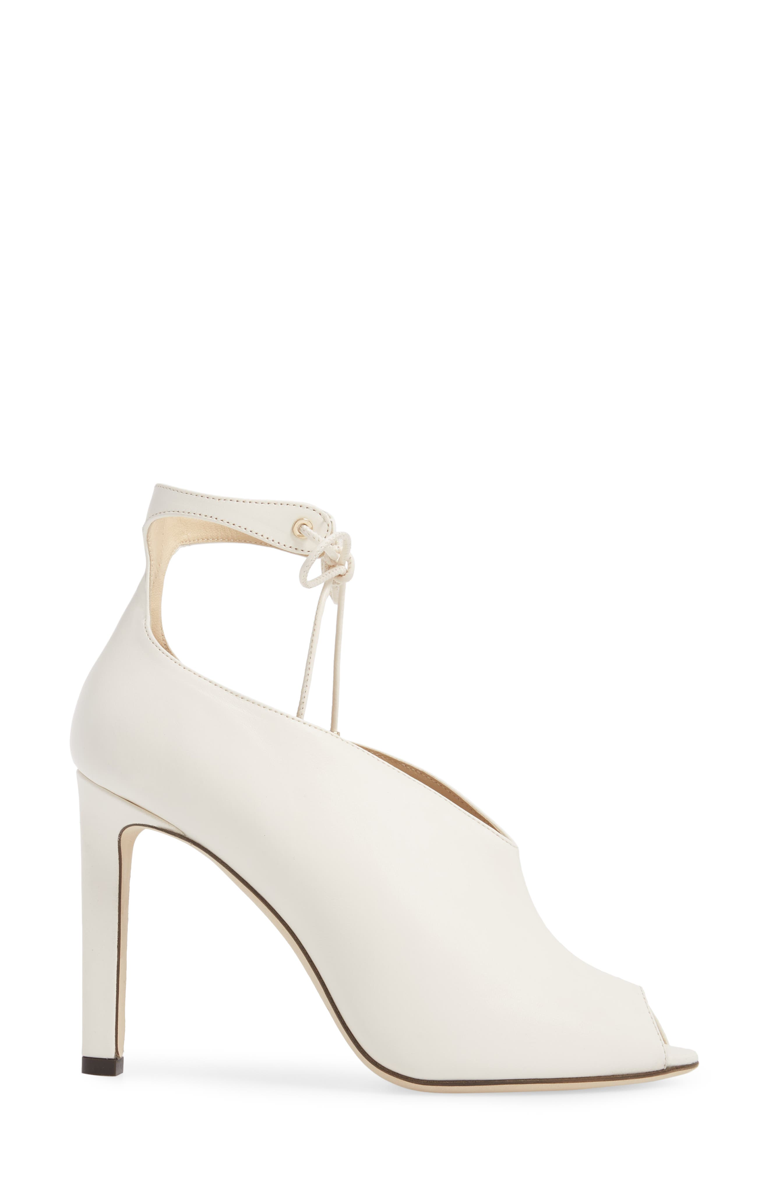 Sayra Ankle Tie Bootie,                             Alternate thumbnail 3, color,                             Chalk