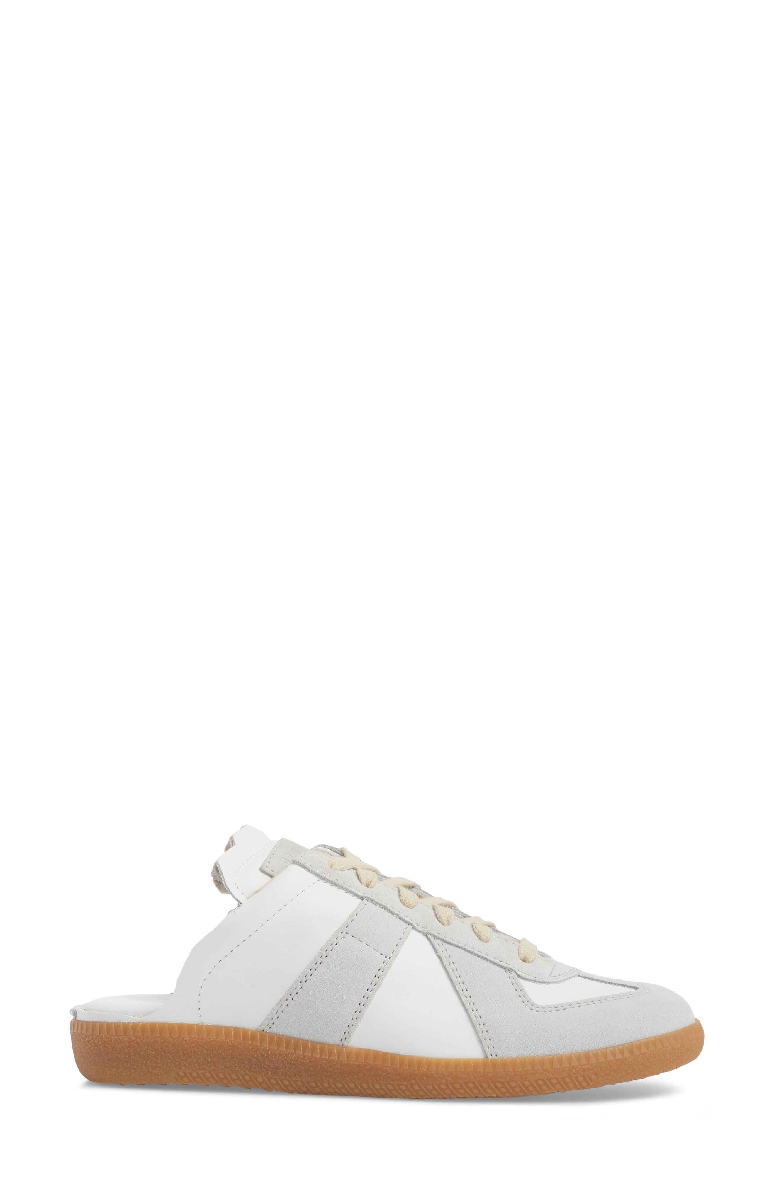 Replica Sneaker Mule,                             Alternate thumbnail 3, color,                             Amber/ White