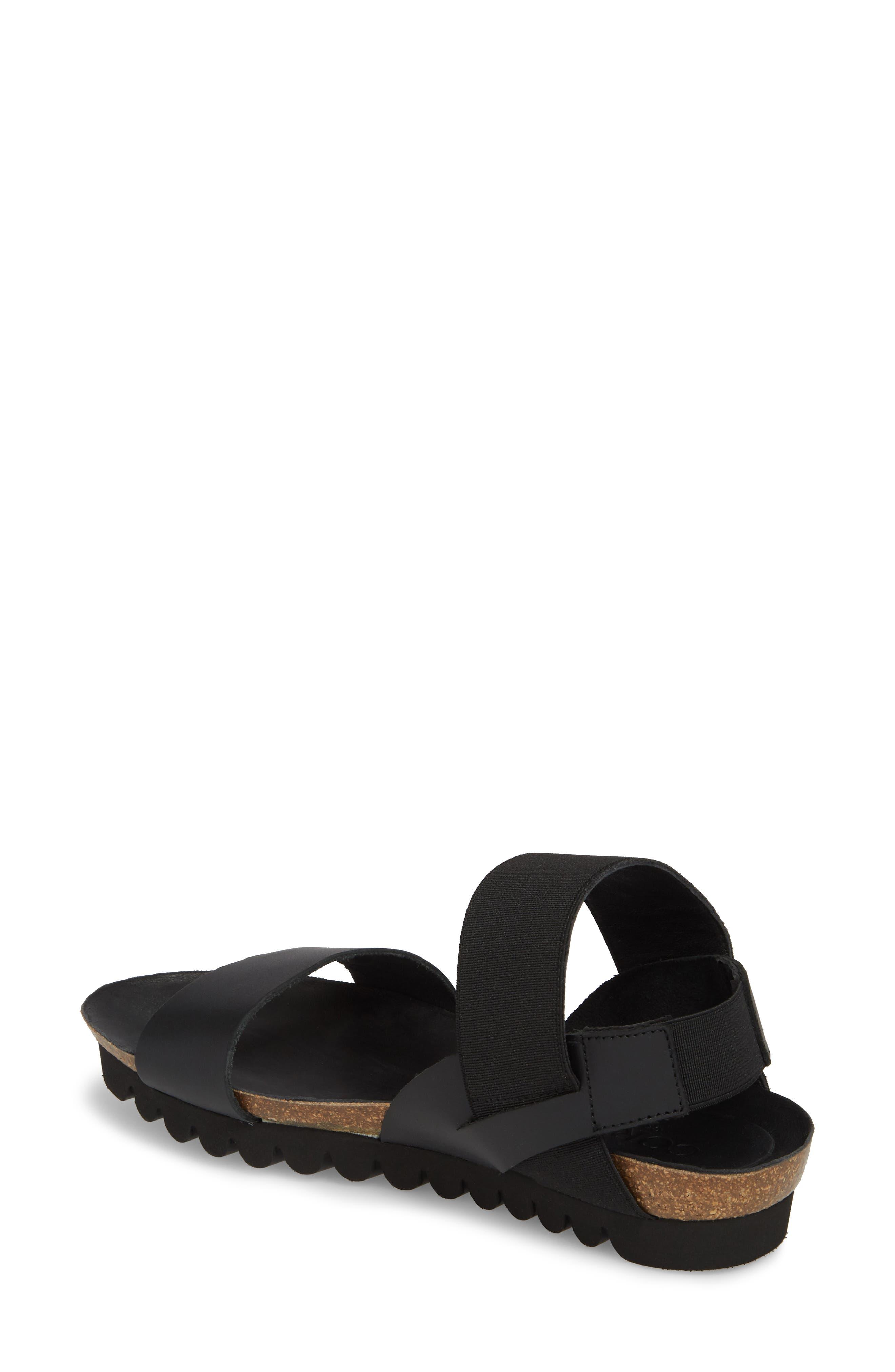 Luna Sandal,                             Alternate thumbnail 2, color,                             Black Leather