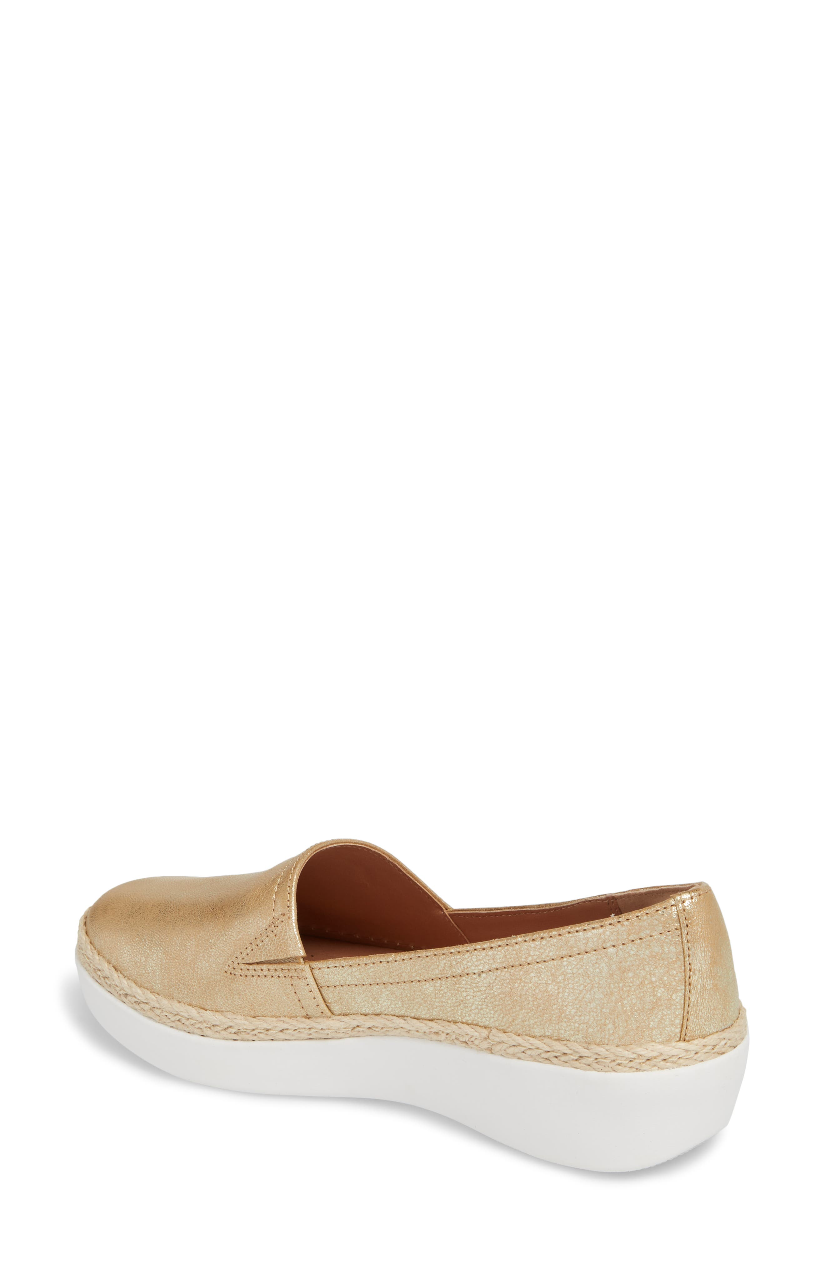 Casa Loafer,                             Alternate thumbnail 2, color,                             Metallic Gold Leather