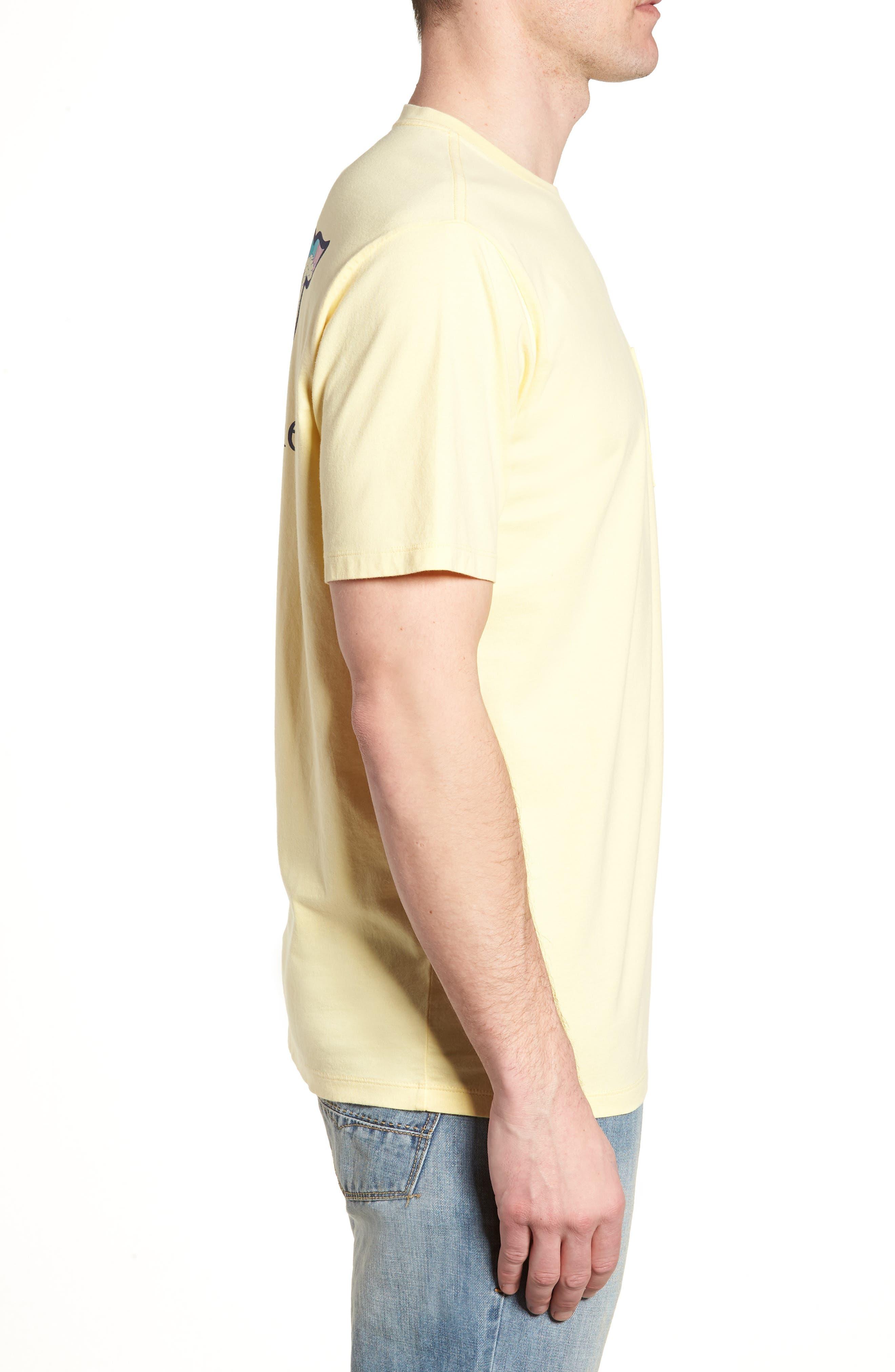Bahama Mama Whale Pocket T-Shirt,                             Alternate thumbnail 3, color,                             Lemon Drop