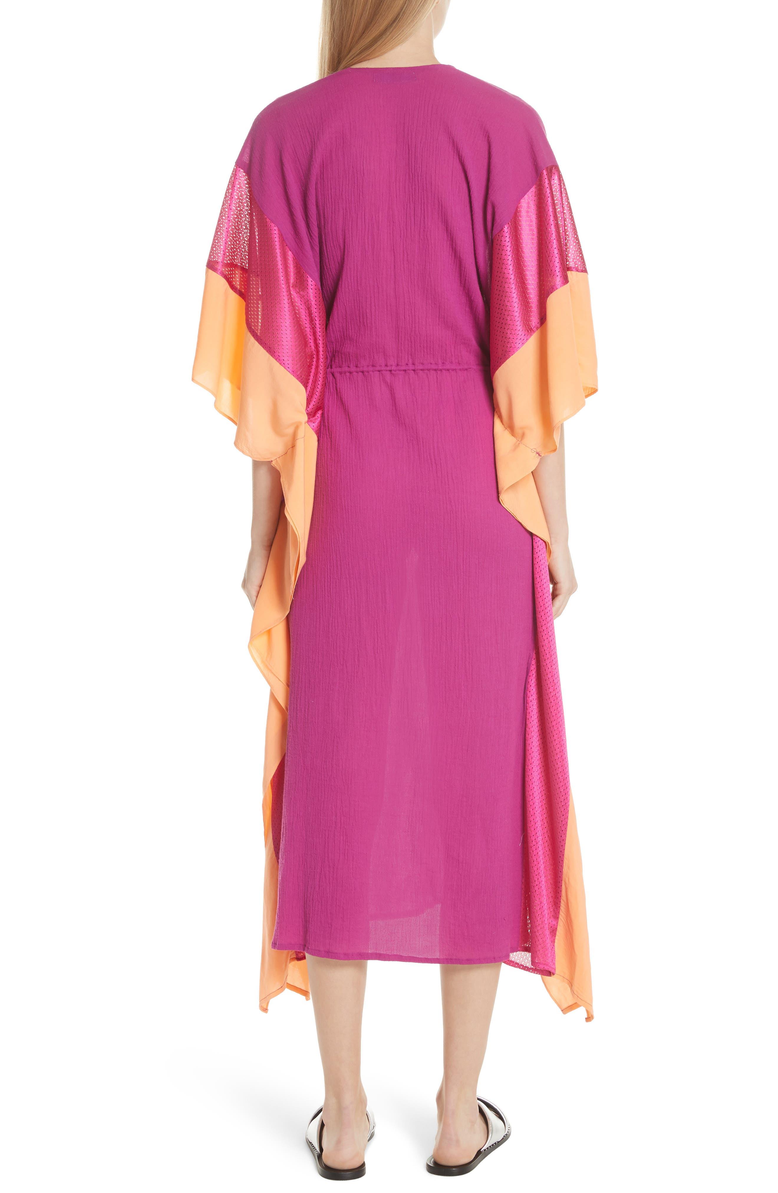 Sun Dance Caftan Dress,                             Alternate thumbnail 2, color,                             Magenta/ Orange