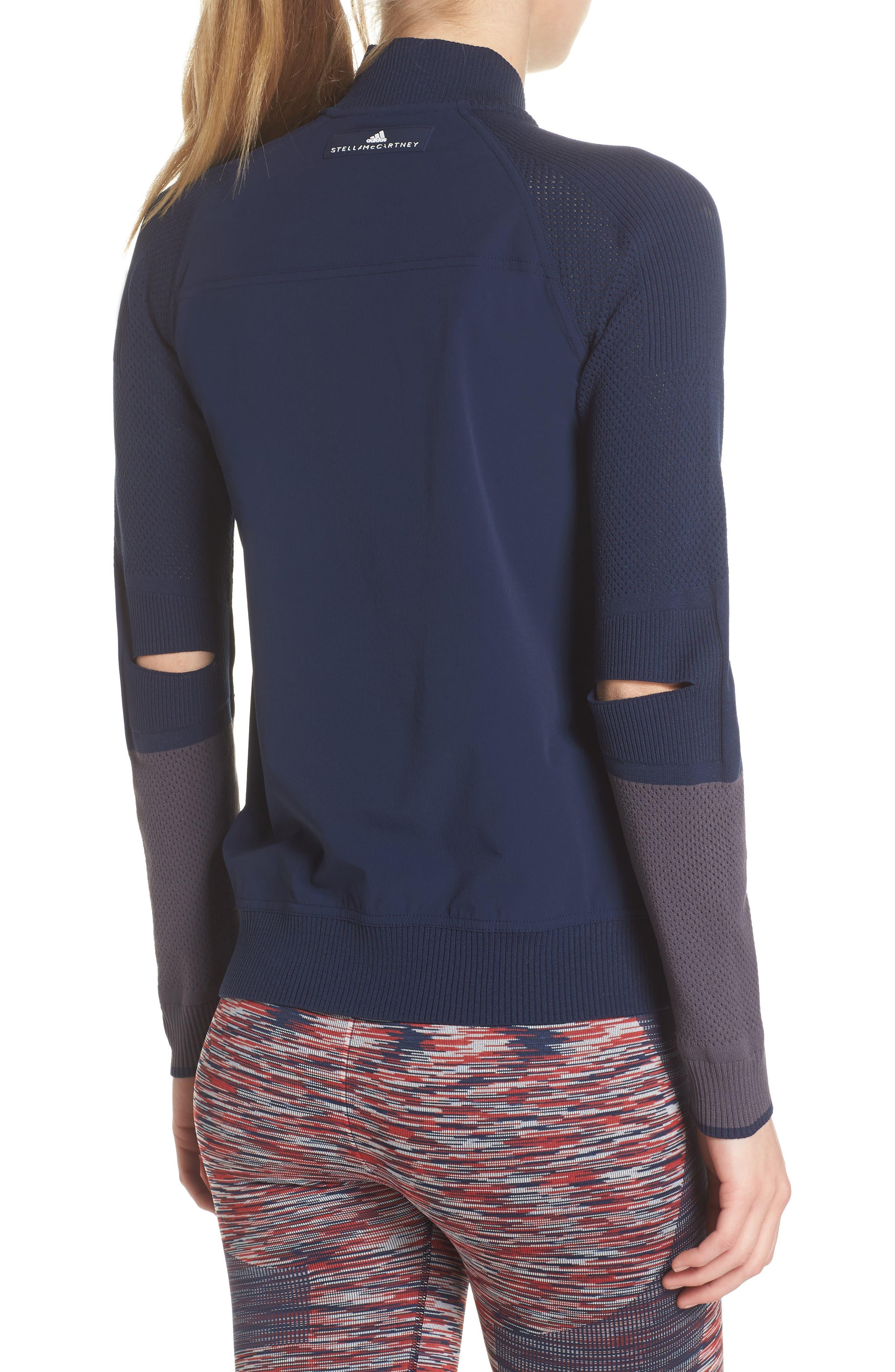 Run Ultra Knit & Woven Jacket,                             Alternate thumbnail 2, color,                             Collegiate Navy