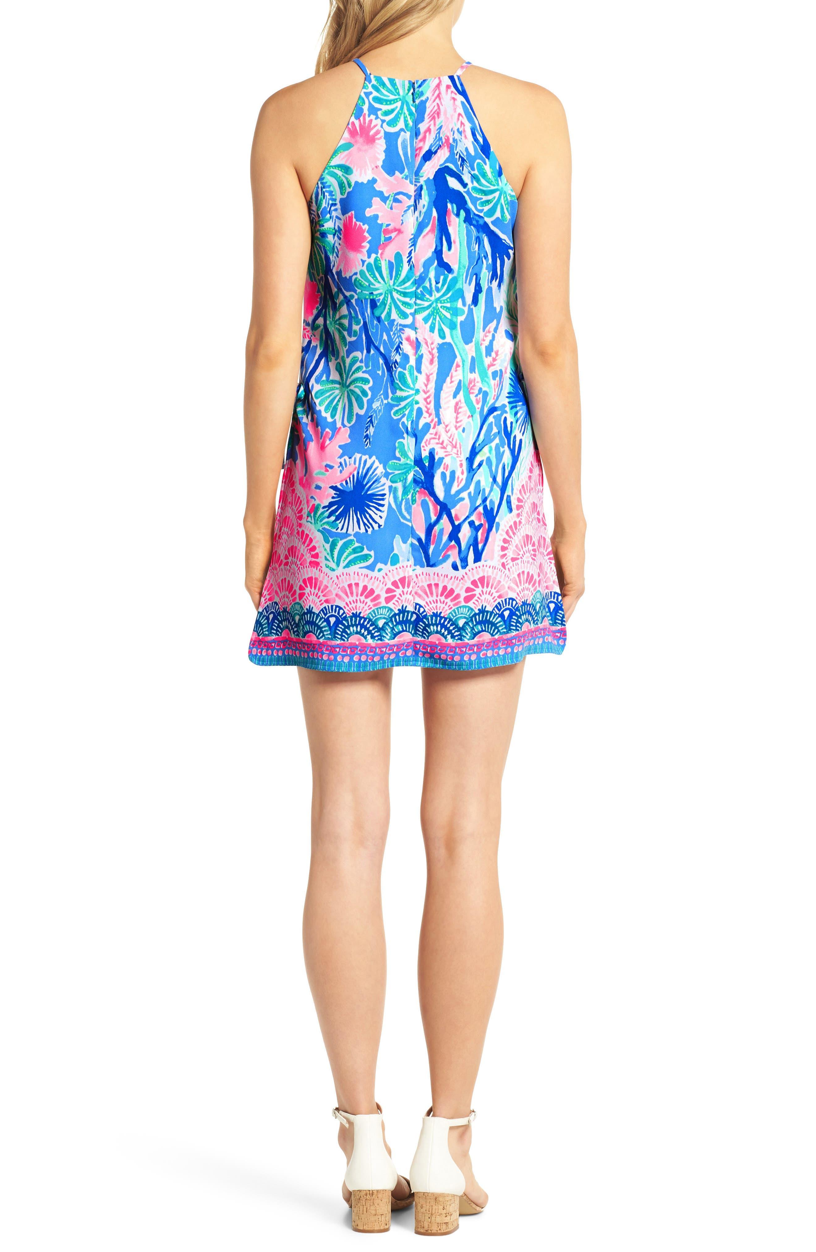 Pearl Romper Dress,                             Alternate thumbnail 2, color,                             Multi Jet Stream