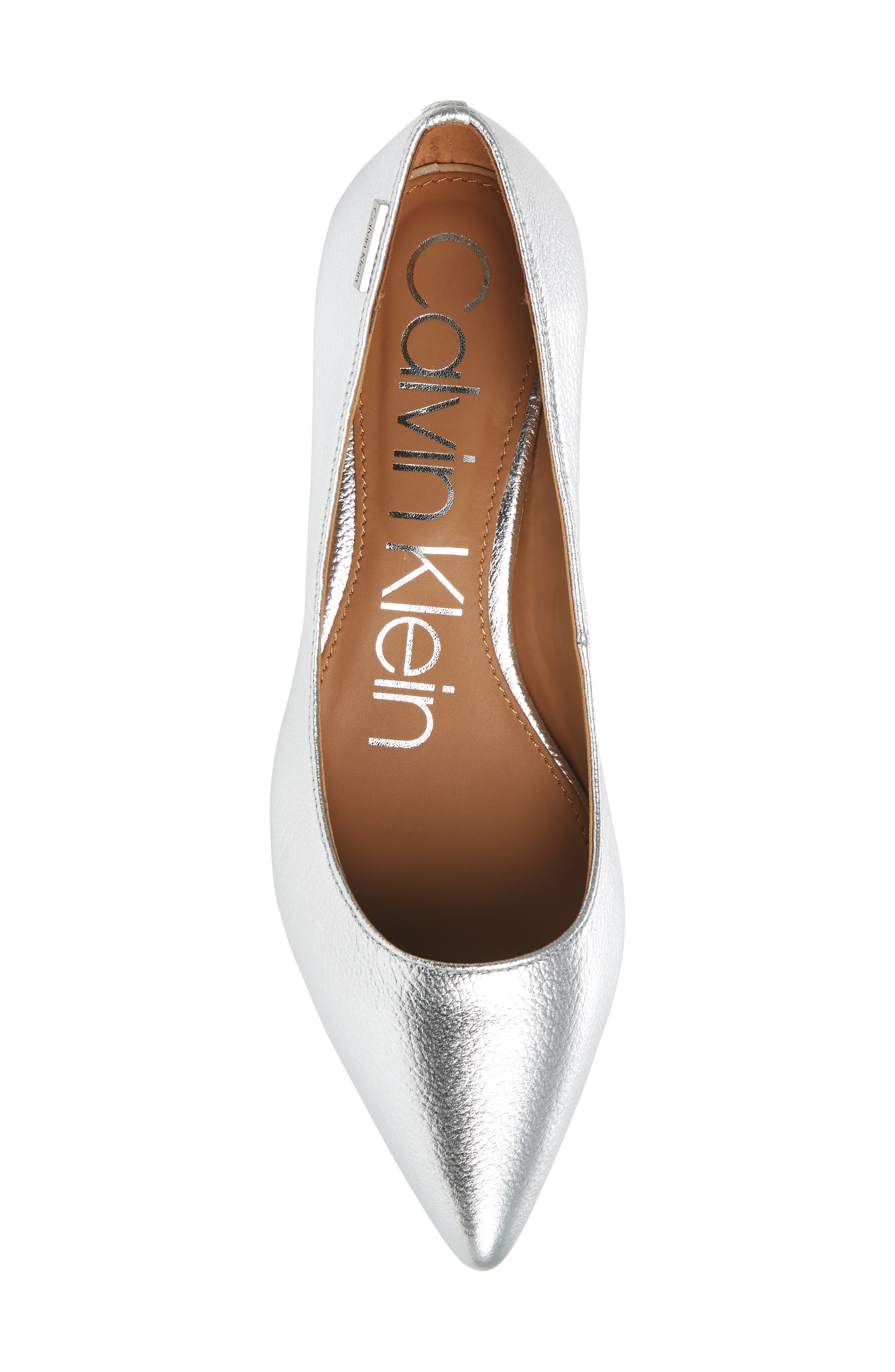 Gabrianna Pump,                             Alternate thumbnail 5, color,                             Silver Leather
