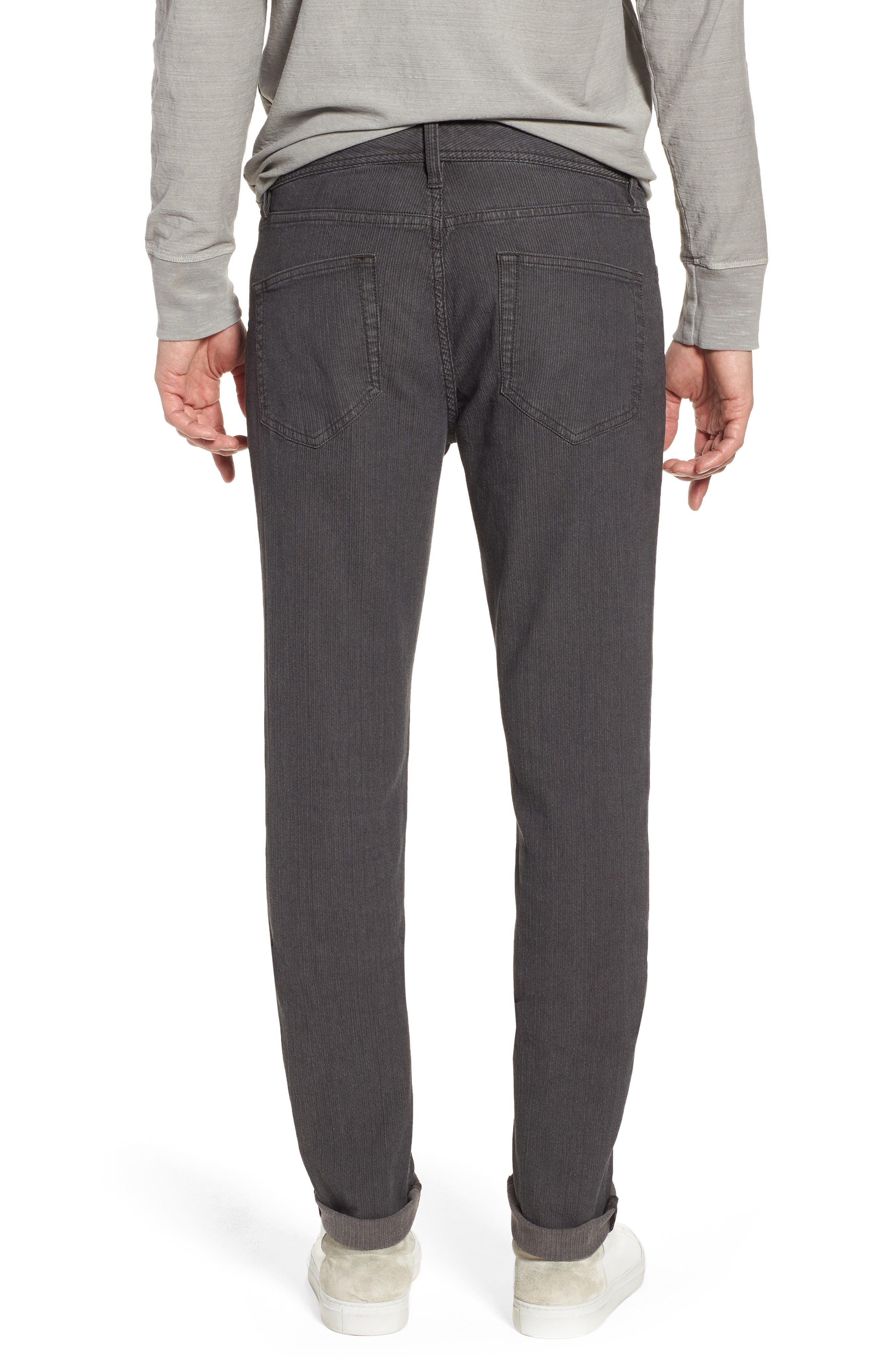 Alternate Image 2  - James Perse Slim Fit Stretch Herringbone Pants
