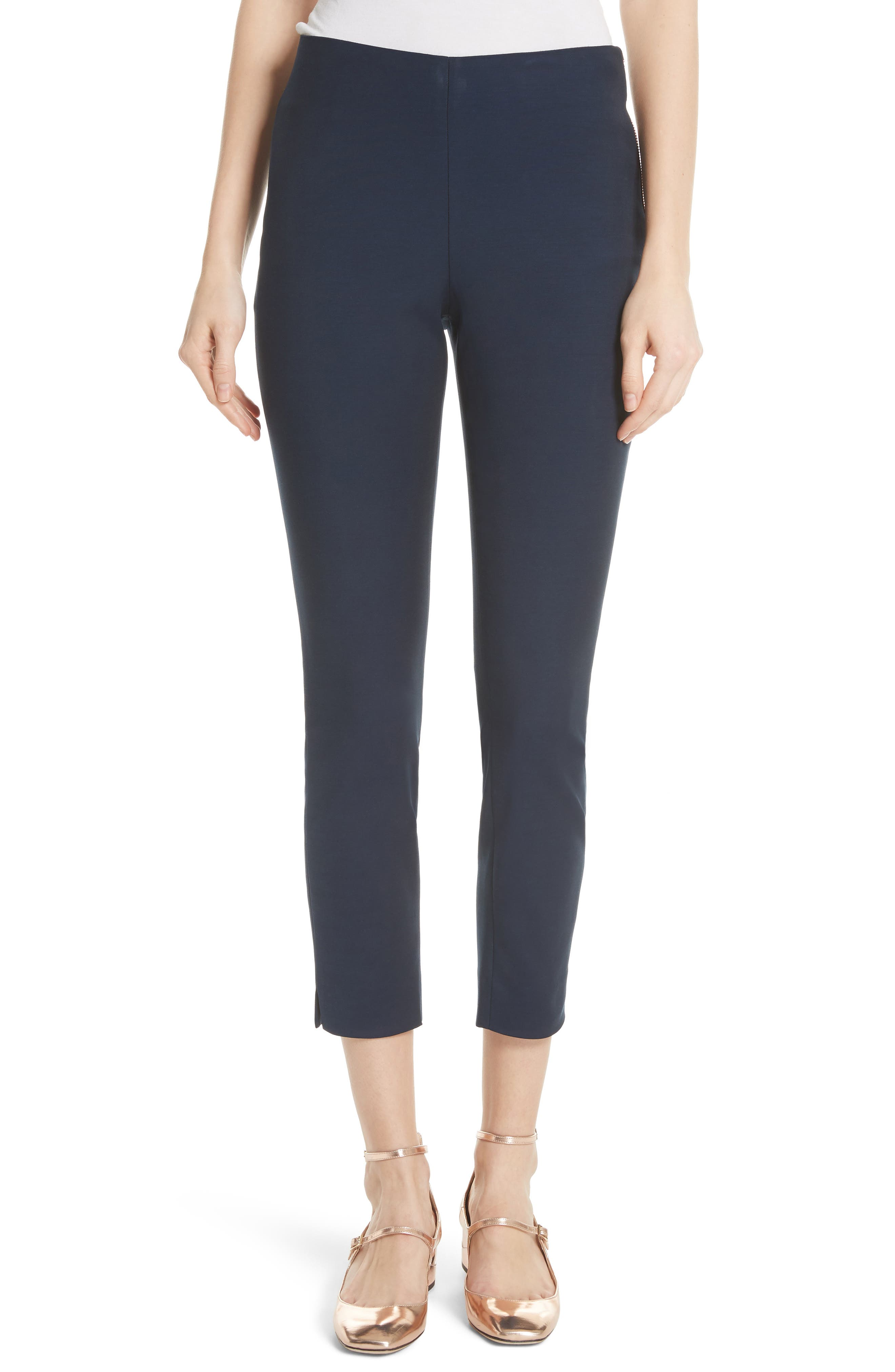 Side Zip Skinny Pants,                             Main thumbnail 1, color,                             Dark Blue