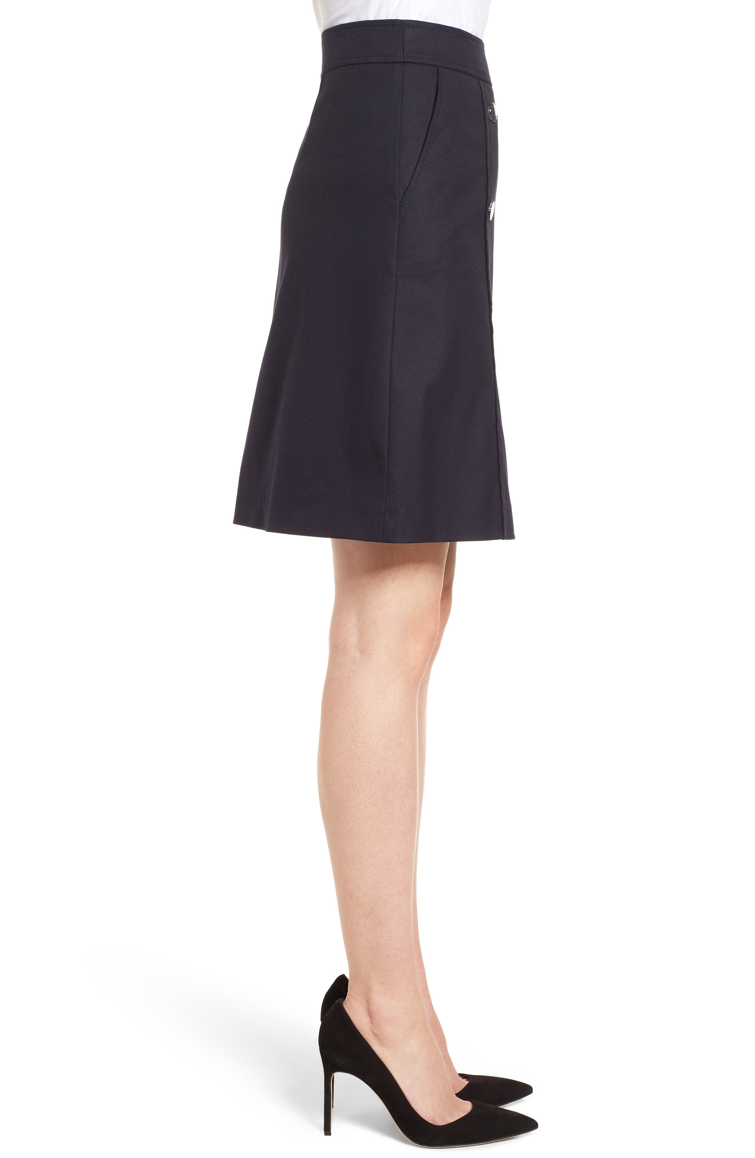 Valareama Sailor Skirt,                             Alternate thumbnail 3, color,                             Navy