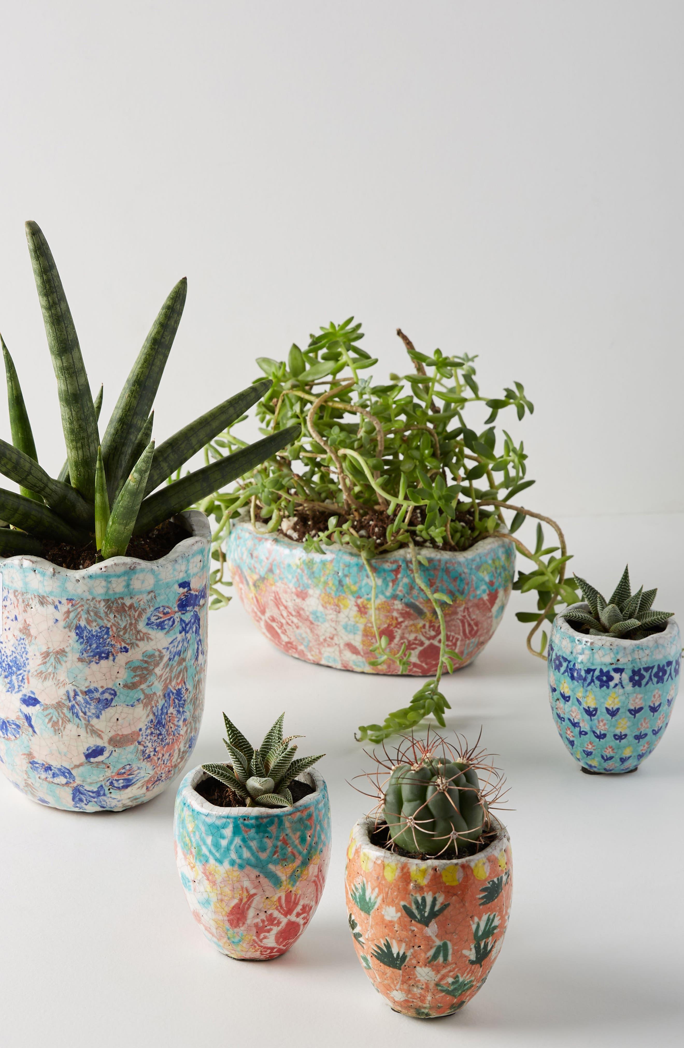 Bismark Mini Garden Pot,                             Alternate thumbnail 3, color,                             Peach