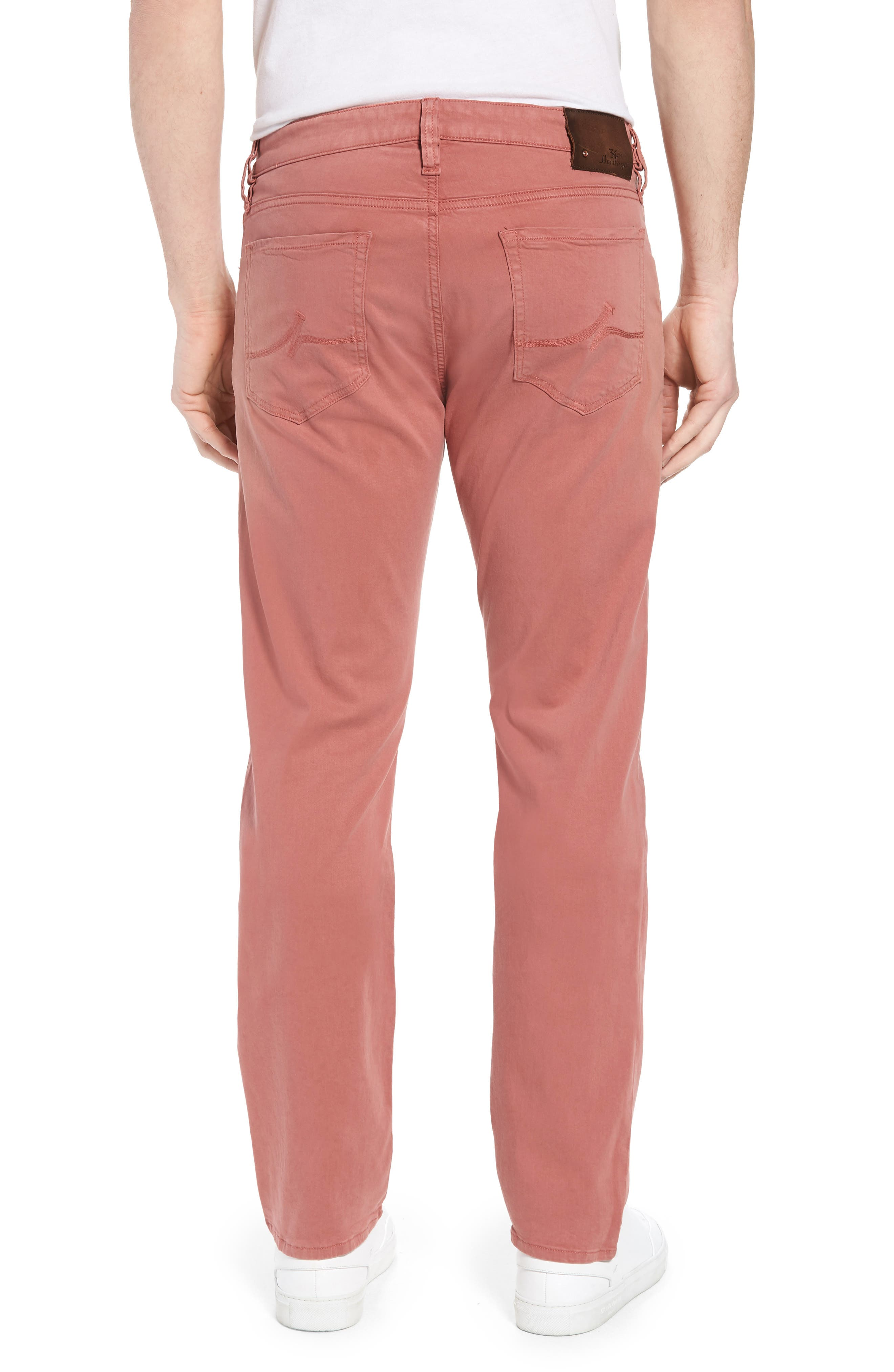 Courage Straight Leg Twill Pants,                             Alternate thumbnail 2, color,                             Brick Twill