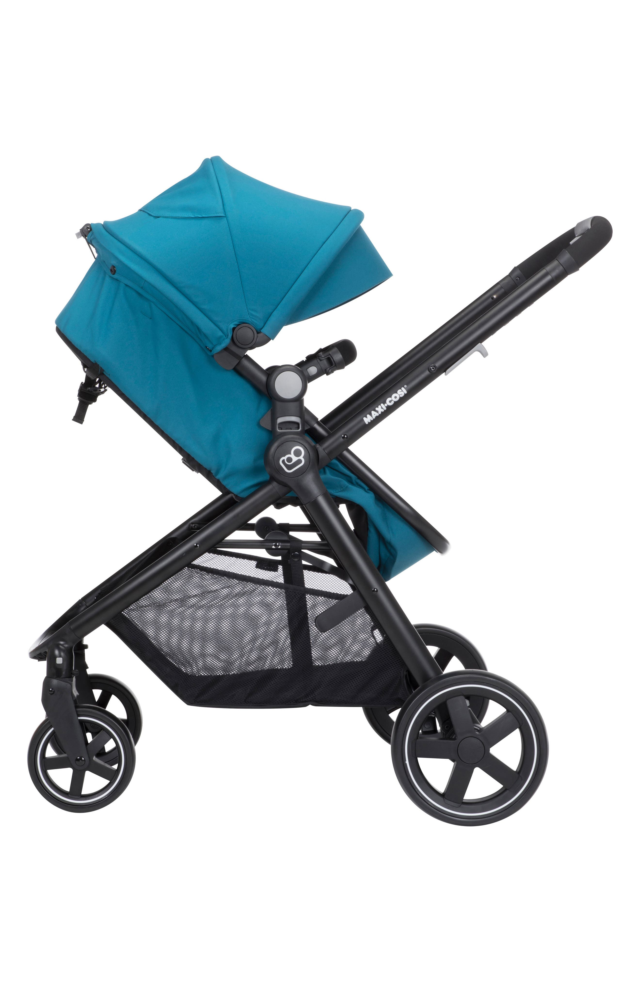 5-1 Mico 30 Infant Car Seat & Zelia Stroller Modular Travel System,                             Alternate thumbnail 4, color,                             Emerald Tide