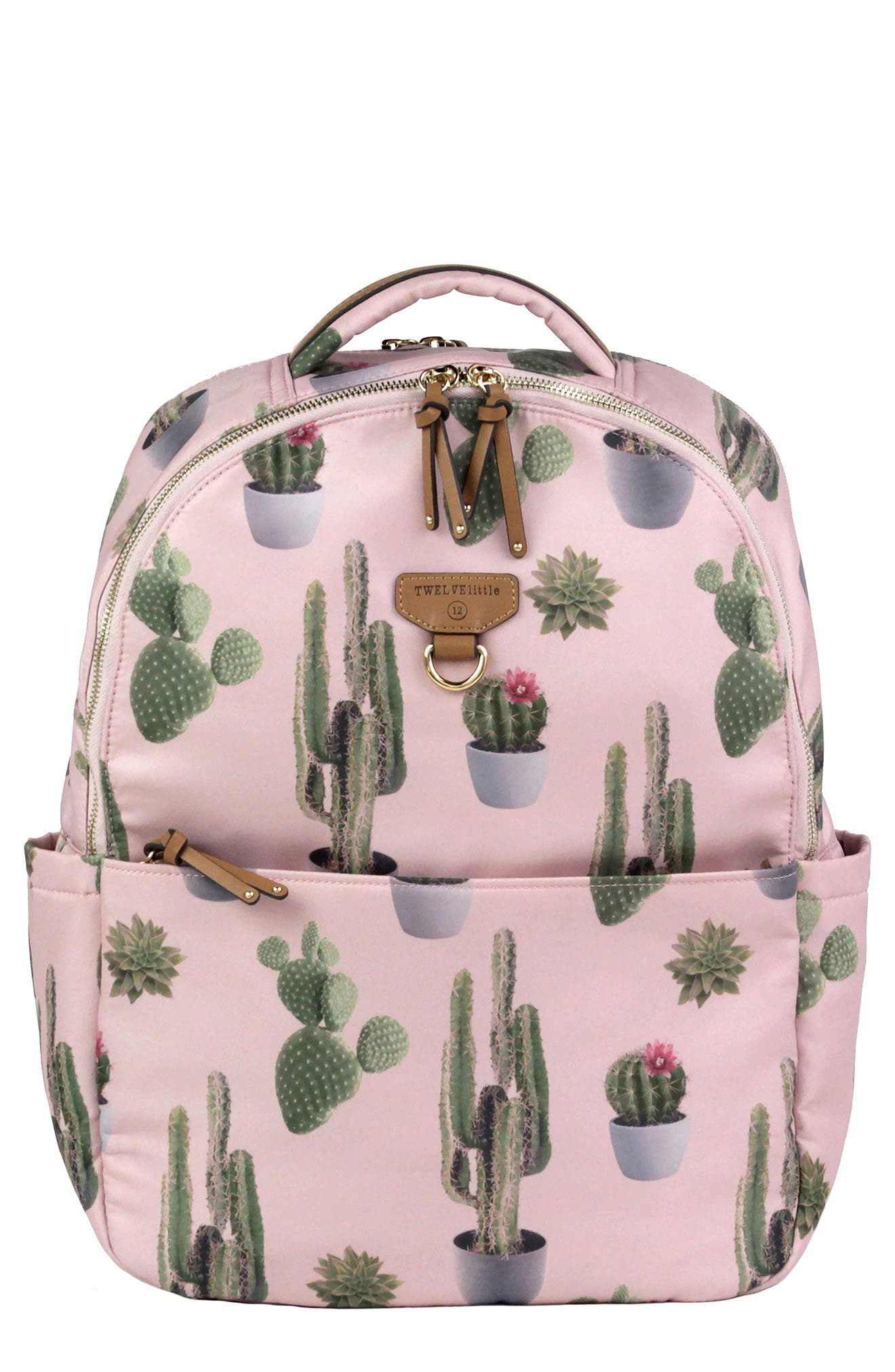 On-the-Go Water Resistant Diaper Backpack,                             Main thumbnail 1, color,                             Cactus