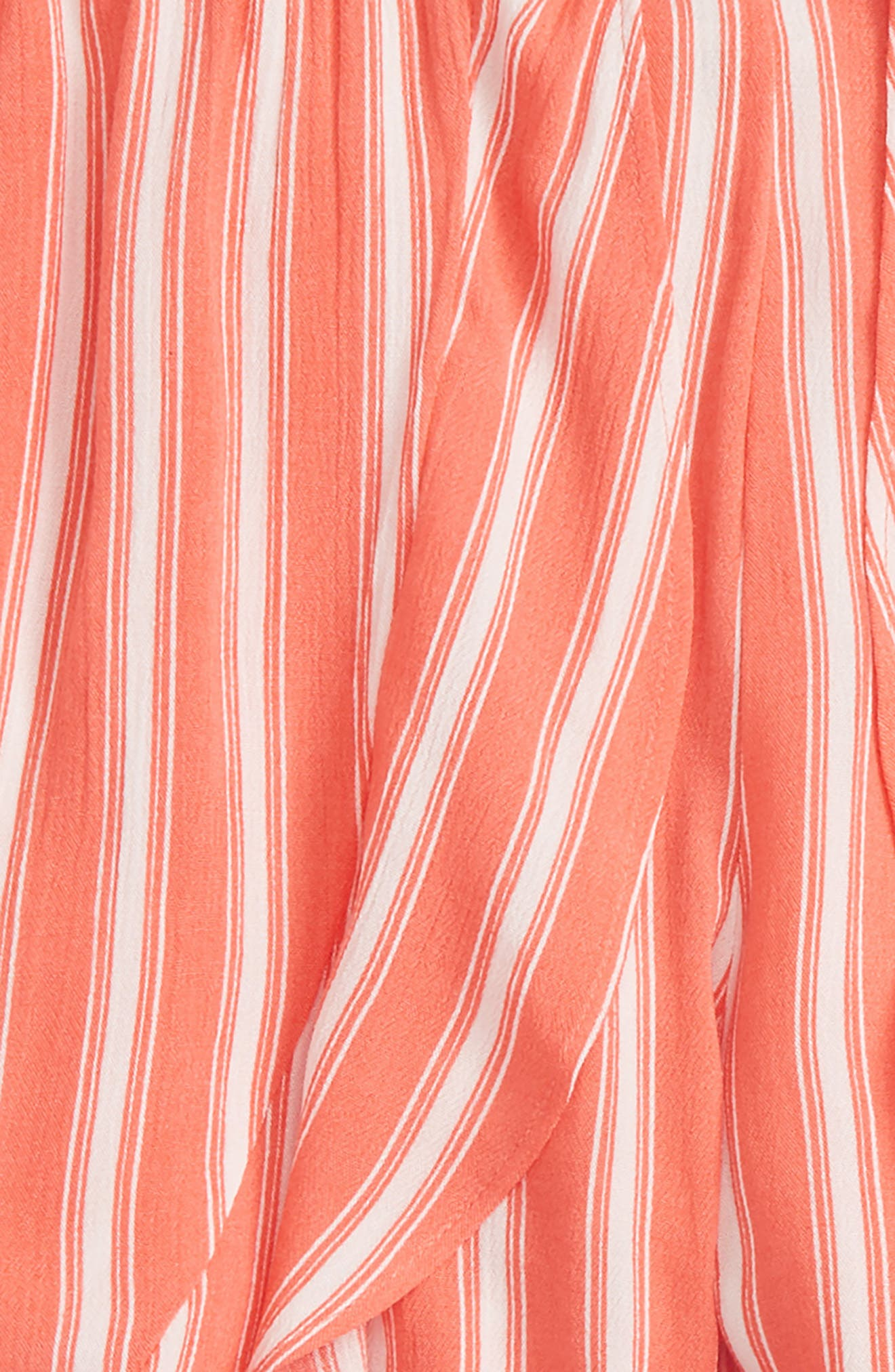 Stripe Walk Through Skirt,                             Alternate thumbnail 2, color,                             Coral/ Ivory