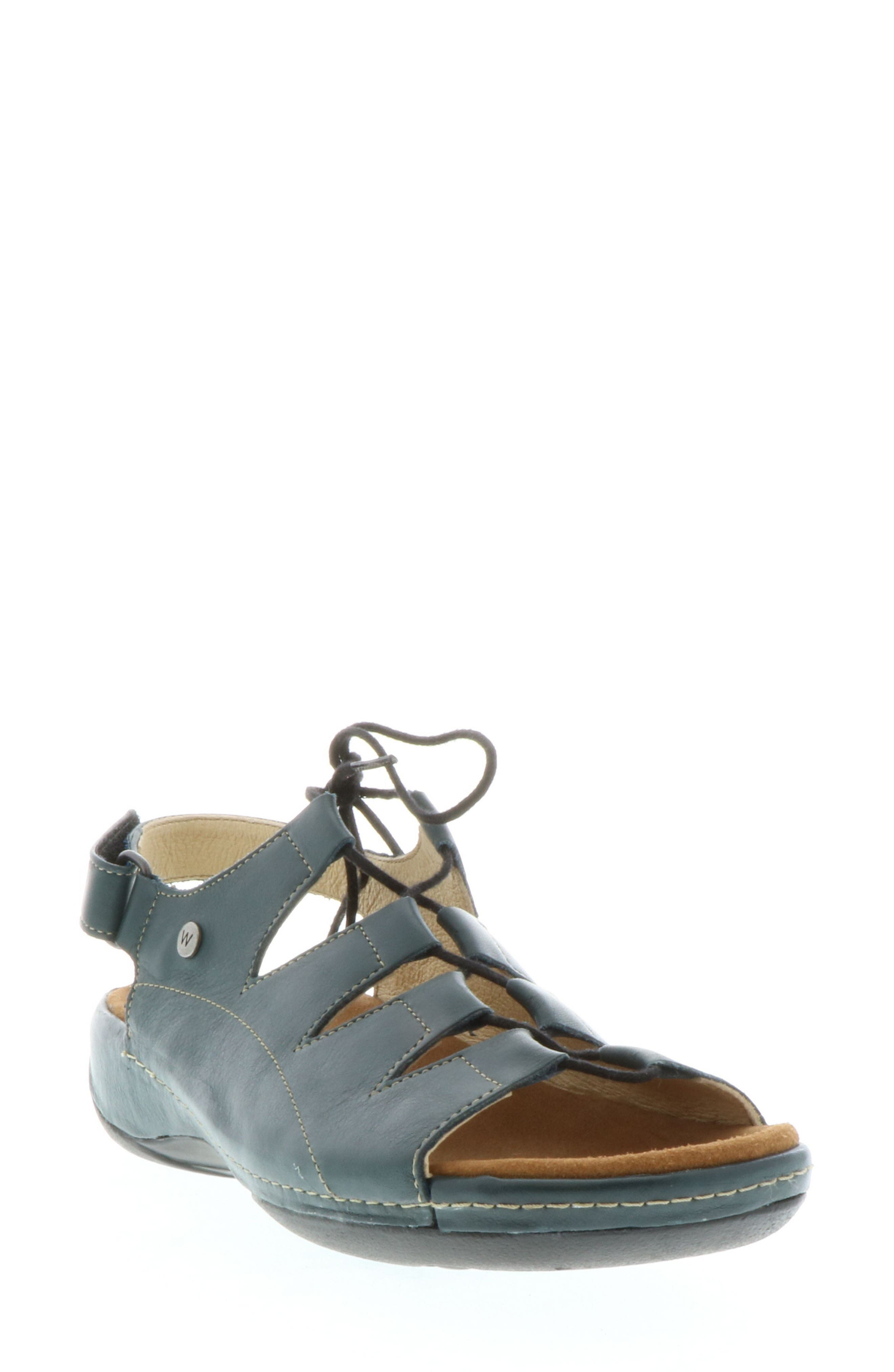 Kite Lace-Up Sandal,                         Main,                         color, Navy Leather