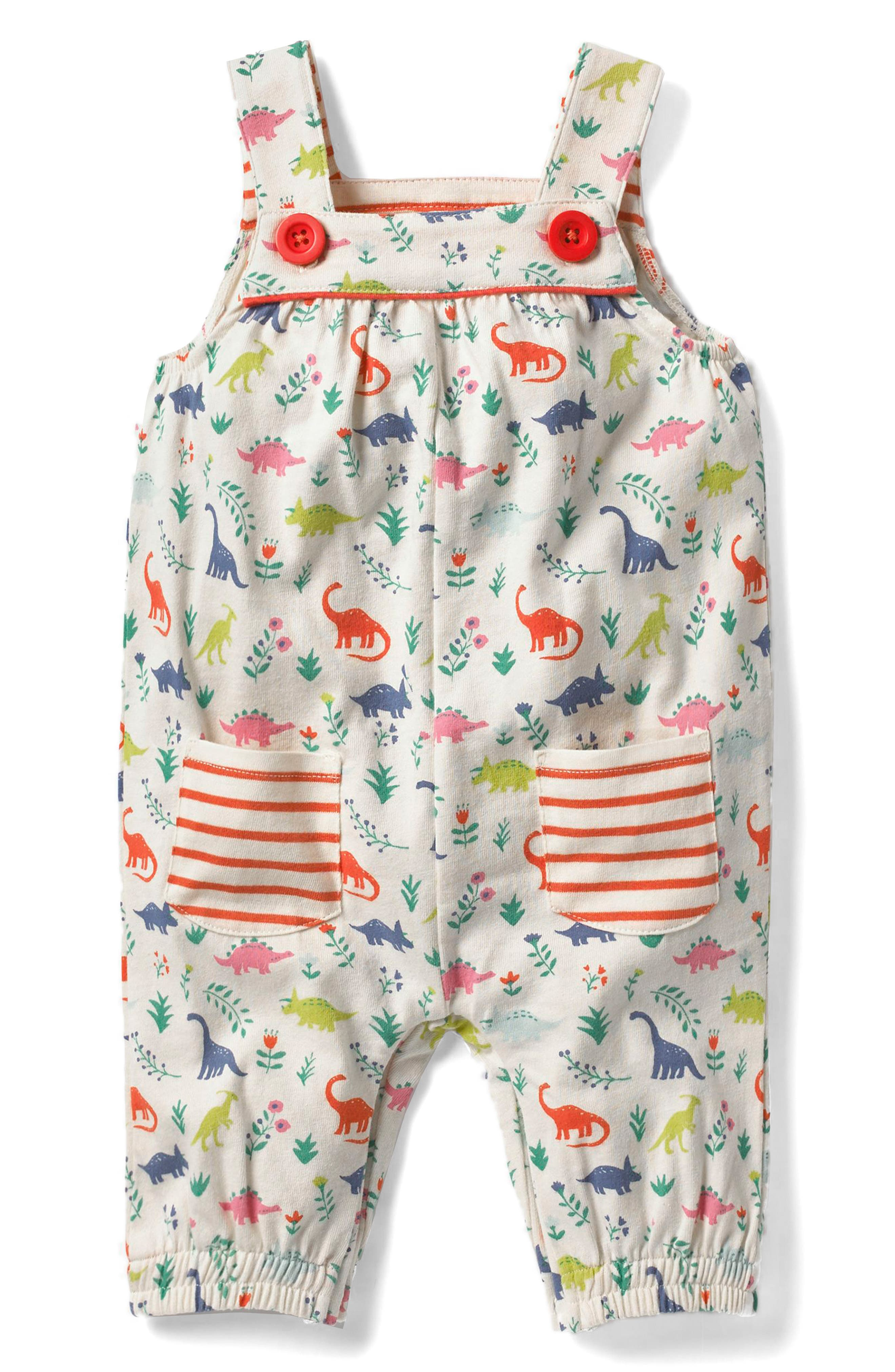 Main Image - Mini Boden Jersey Overalls (Baby Girls & Toddler Girls)