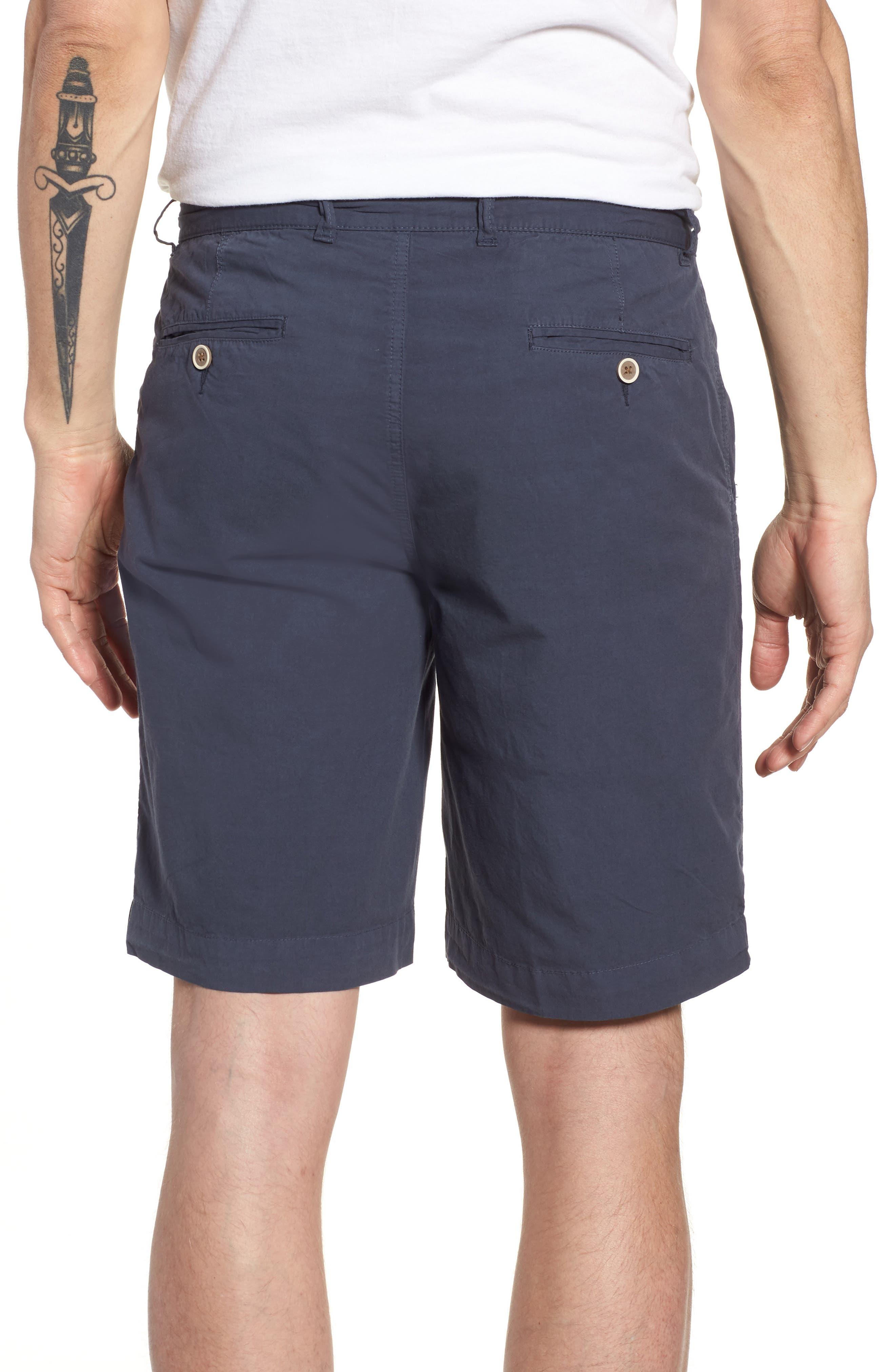 Stretch Poplin Shorts,                             Alternate thumbnail 2, color,                             Navy