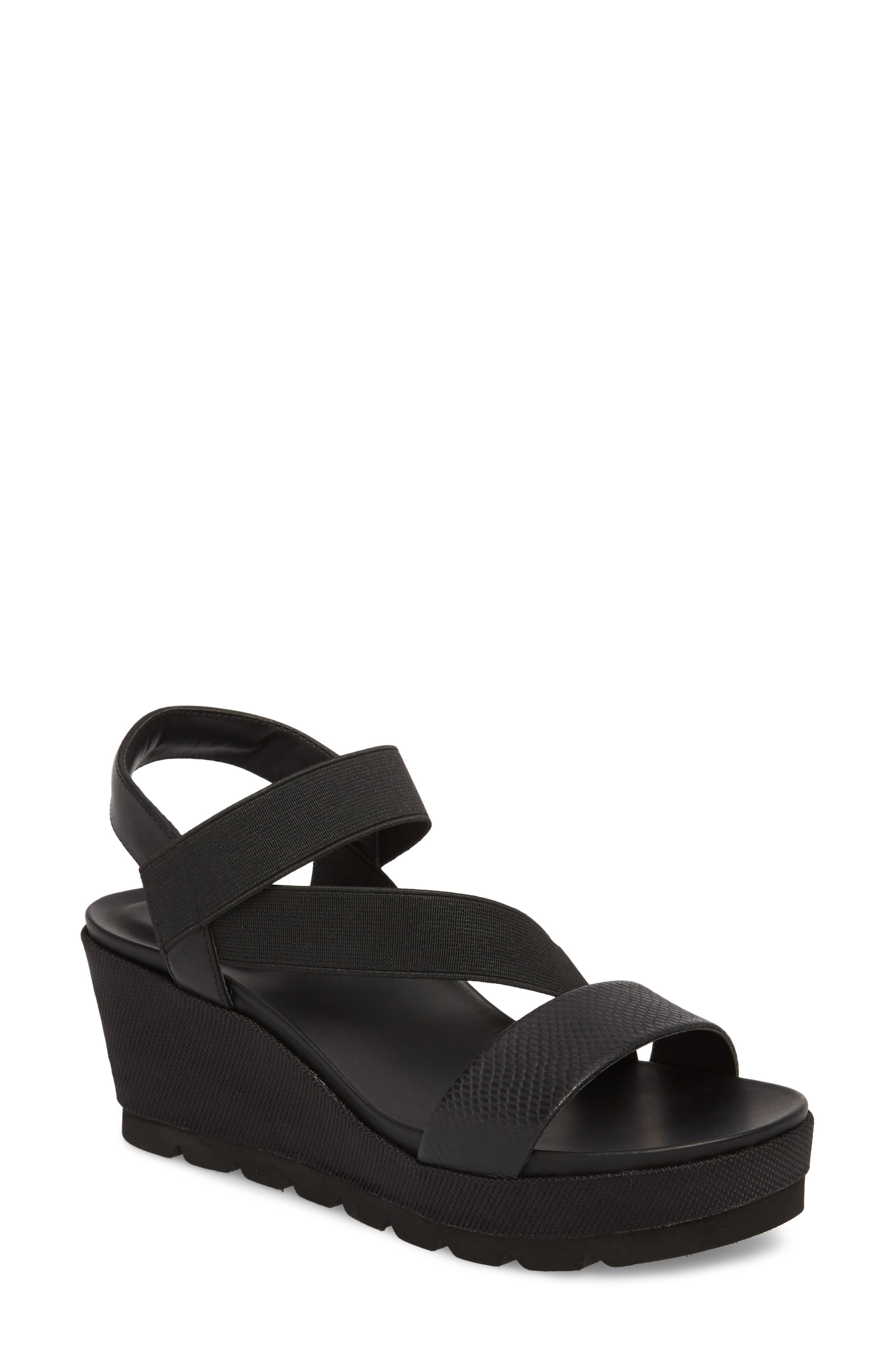TT-Gabel Sandal,                             Main thumbnail 1, color,                             Black Leather