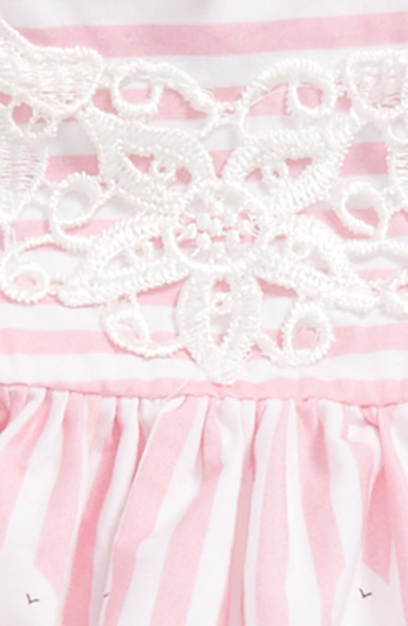 Carnival Border Sundress,                             Alternate thumbnail 2, color,                             Pink/ White