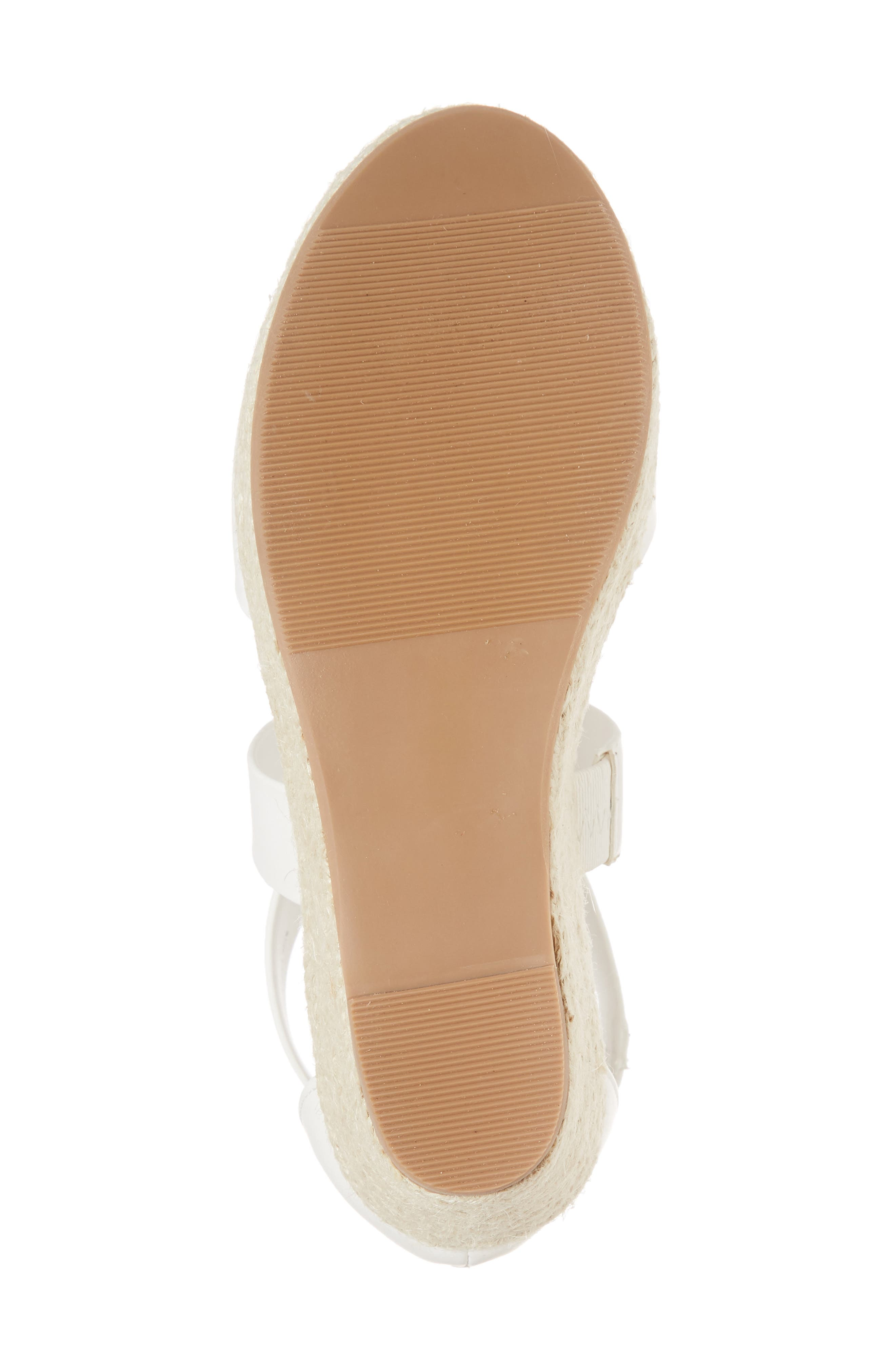 Wilma Platform Wedge Sandal,                             Alternate thumbnail 6, color,                             White
